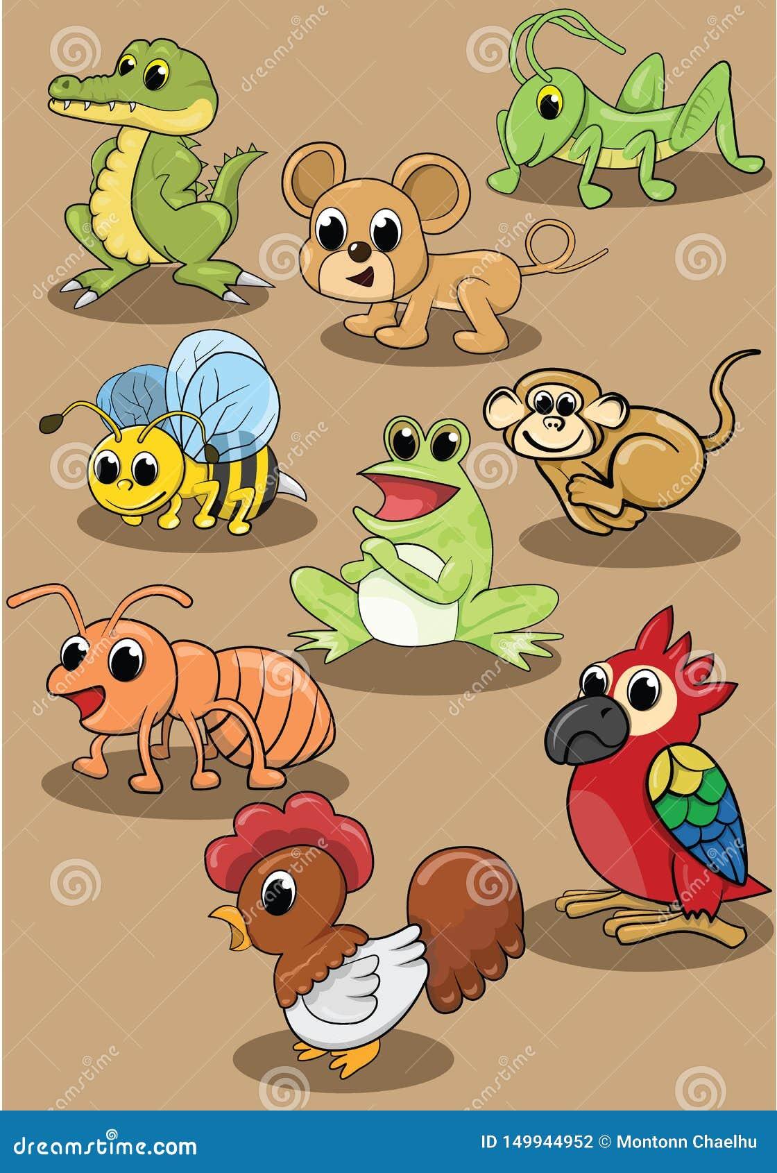 Ensemble animal mignon d illustration de vecteur de chien