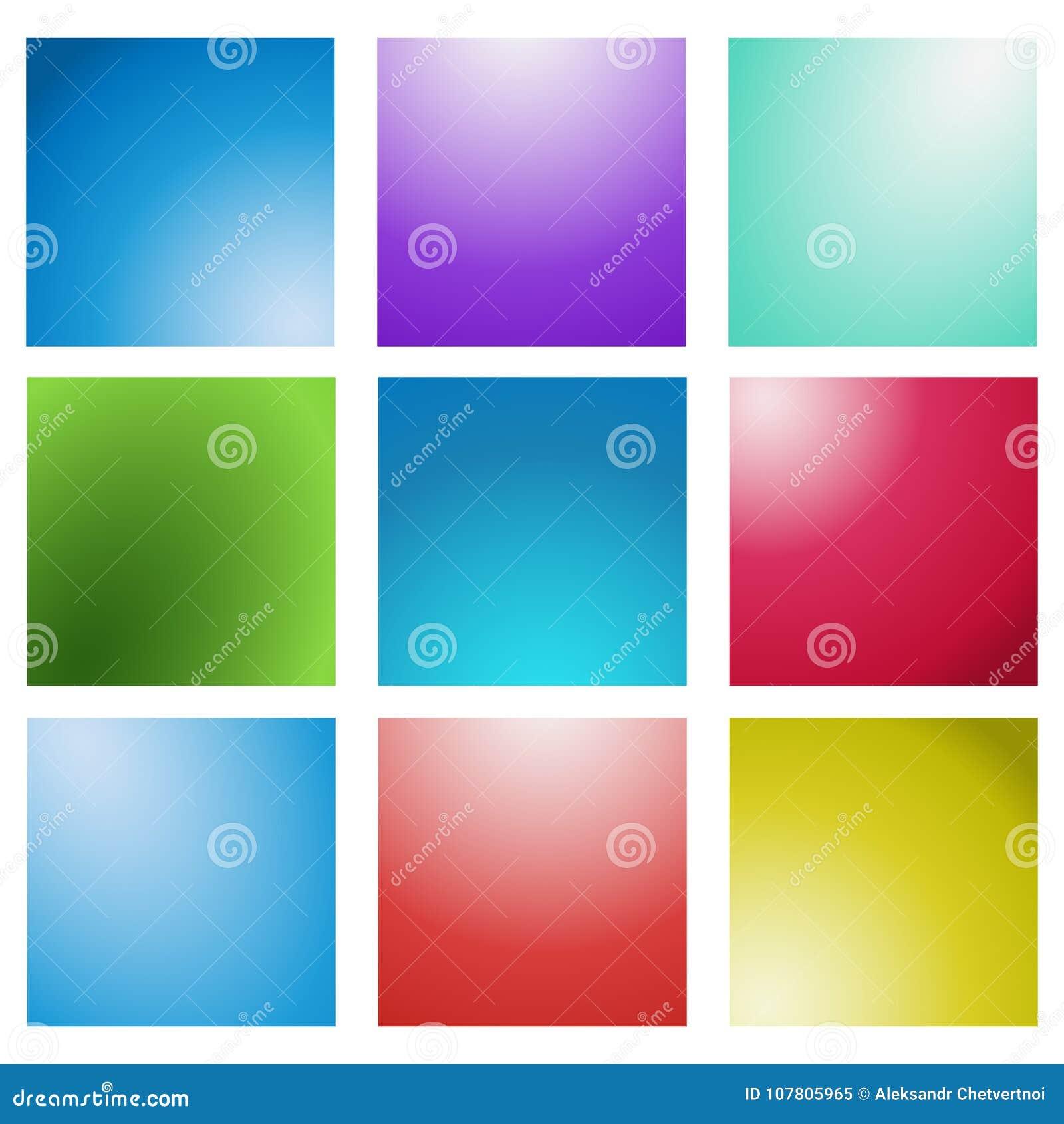 Ensemble brouillé multicolore de fond de vecteur créatif abstrait de concept Pour le Web et les applications mobiles