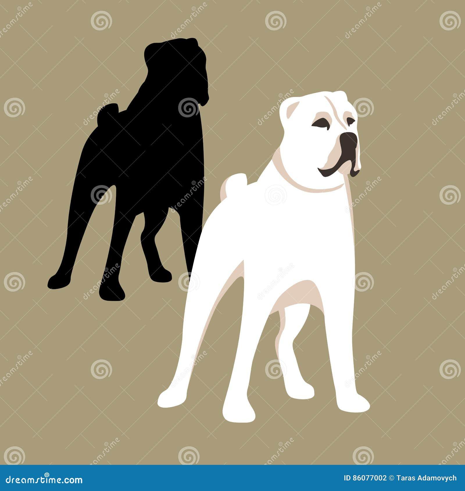 Ensemble caucasien d appartement de style d illustration de vecteur de chien de berger