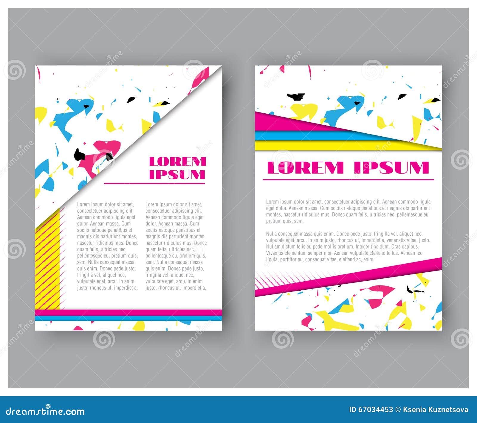 Ensemble Color Abstrait De Carte Visite Professionnelle Collection Dentreprise Couverture Feuille Titre Brochure Illustration