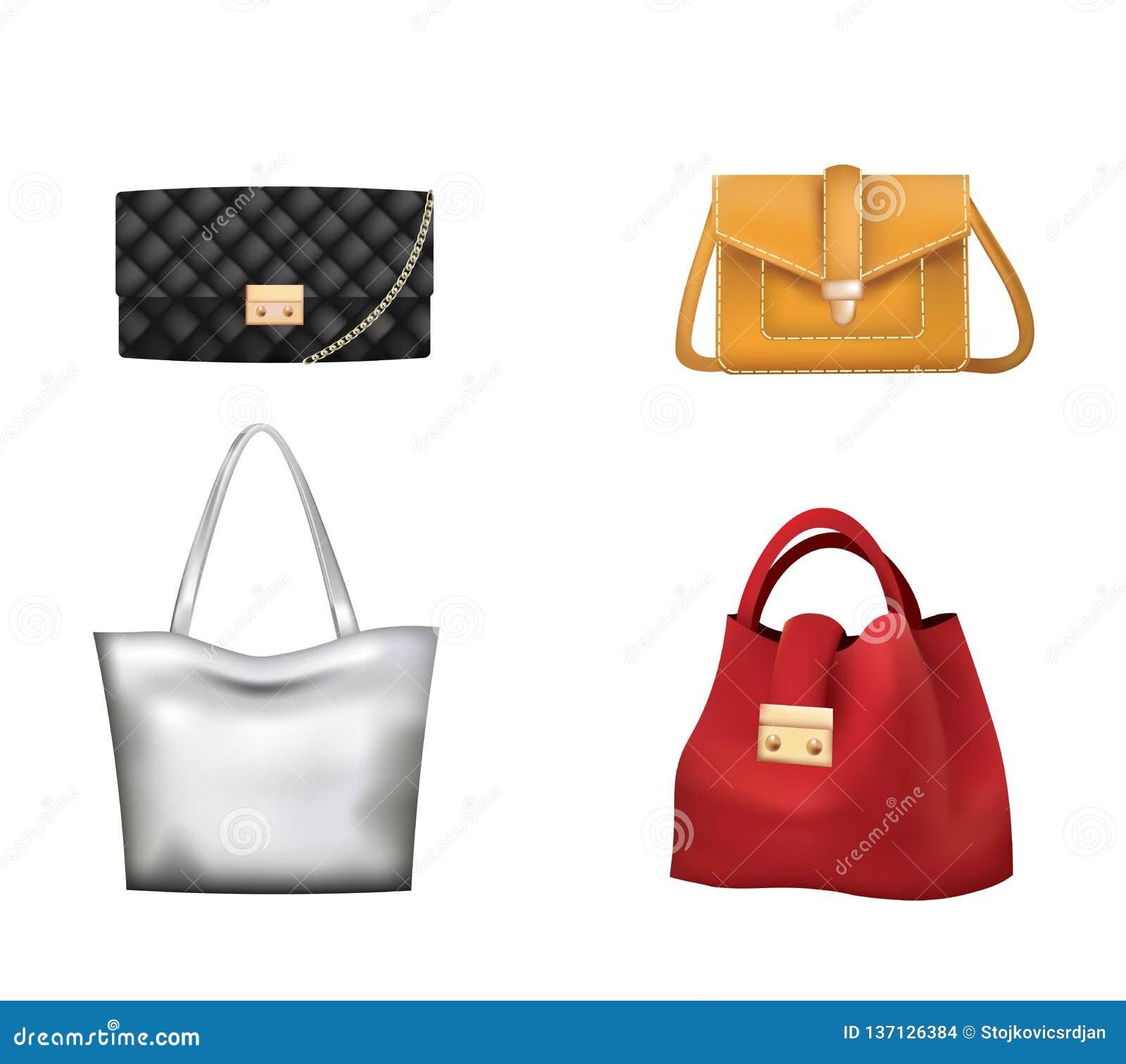 Ensemble coloré de sacs à main de femme