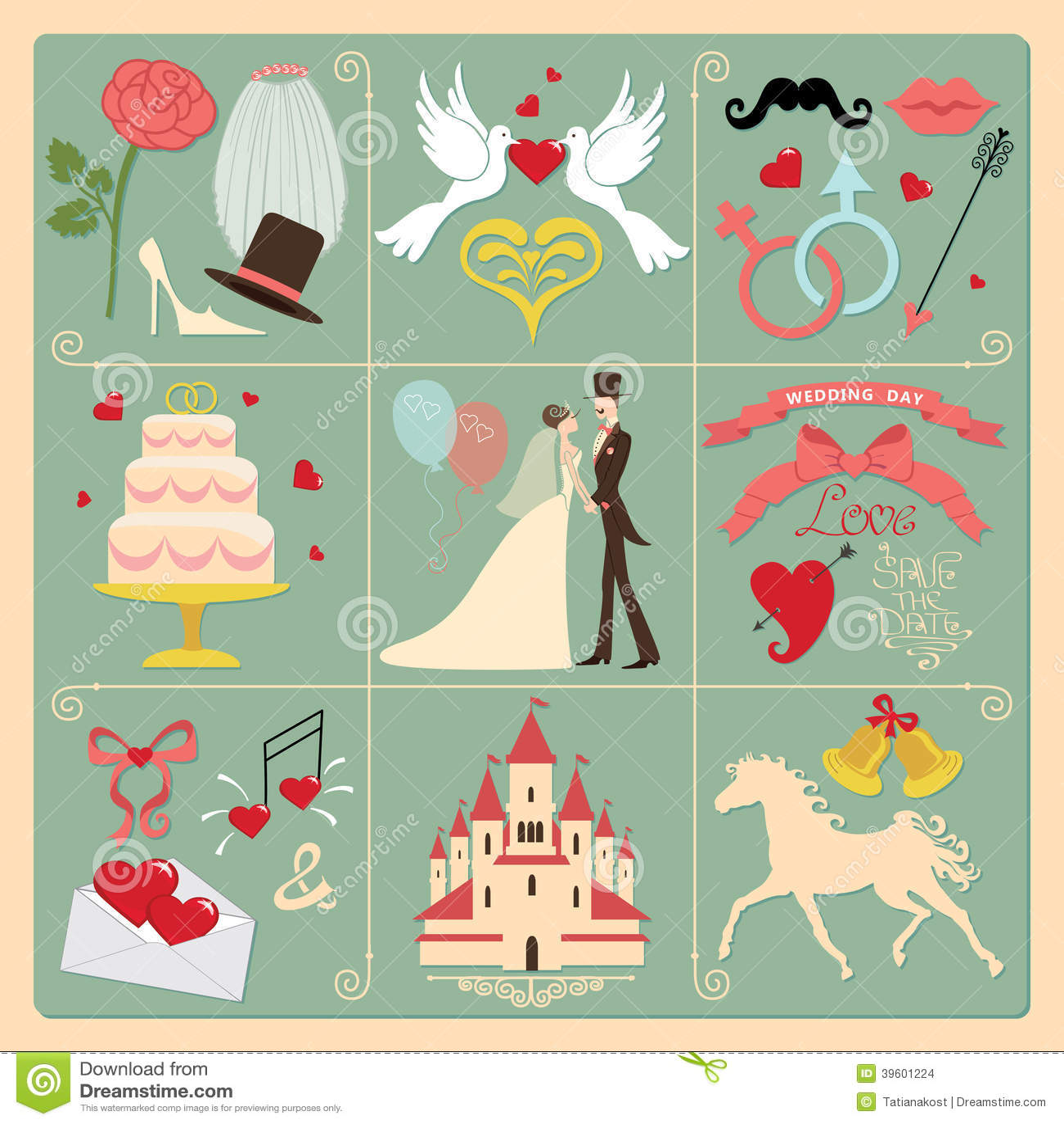 Invitations de mariage de concepteur