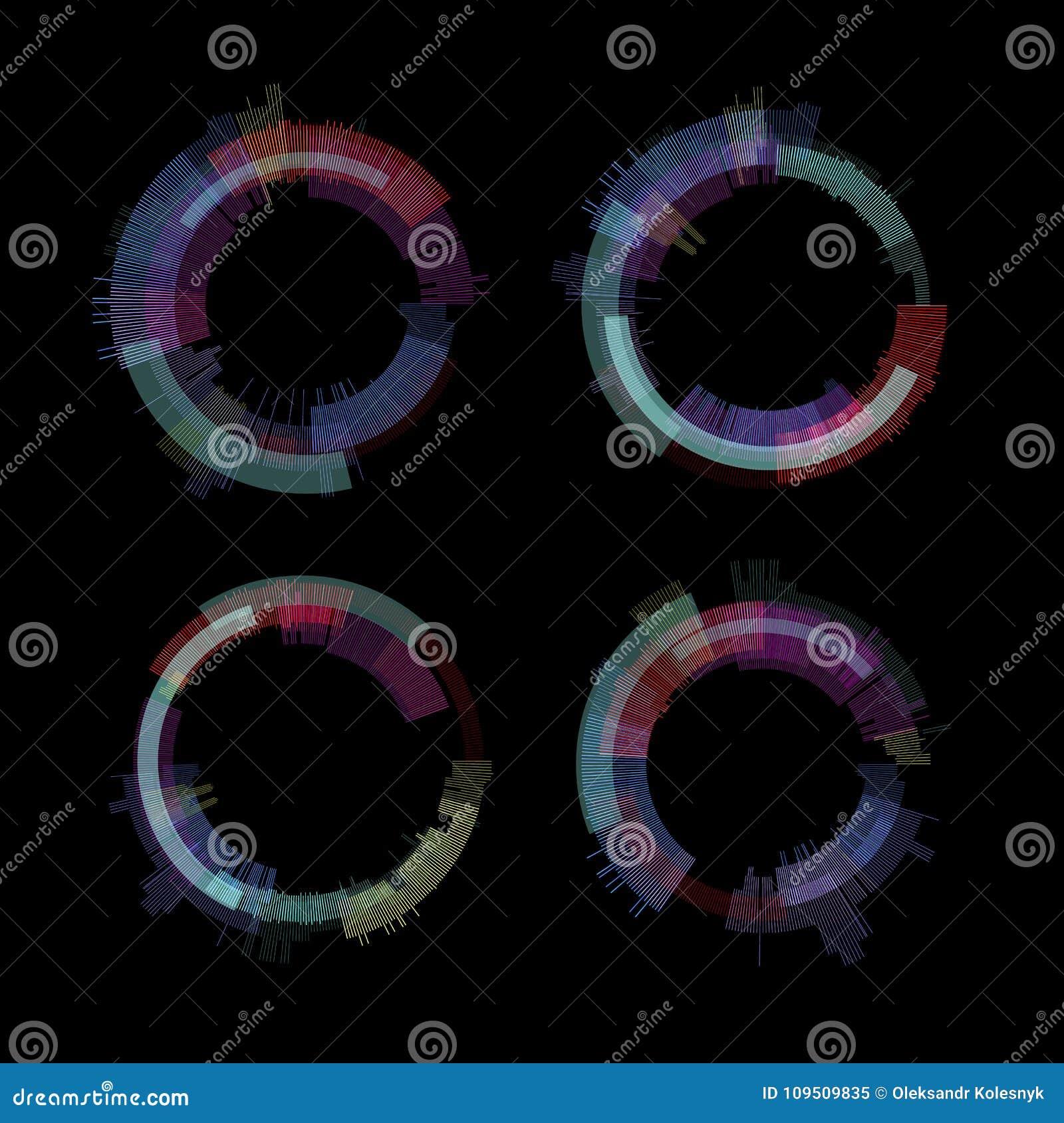 Ensemble d éléments de problème Conception d abrégé sur couleur de bruit de pixel de Digital Problème de jeu vidéo Collection de