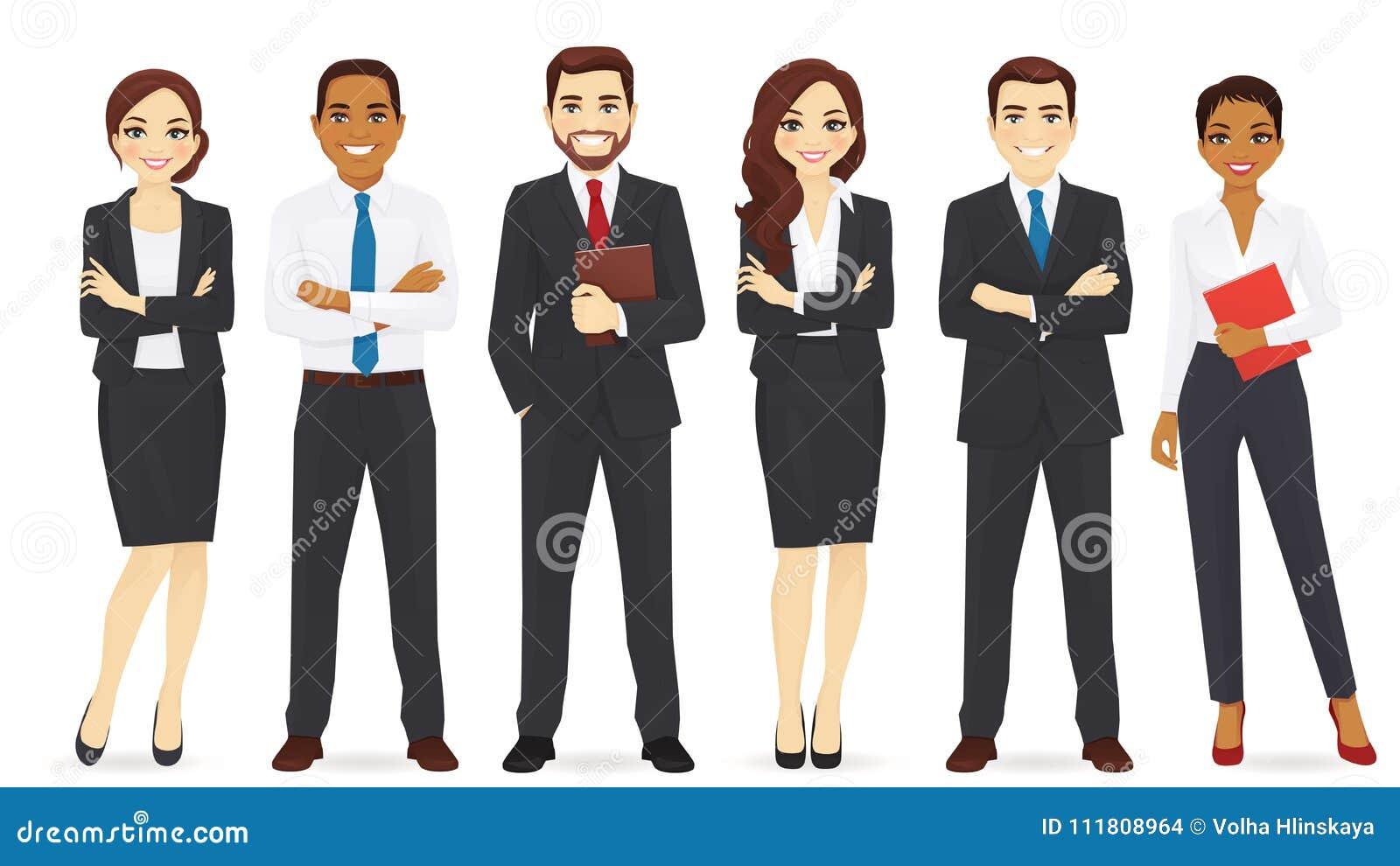 Ensemble d équipe d affaires