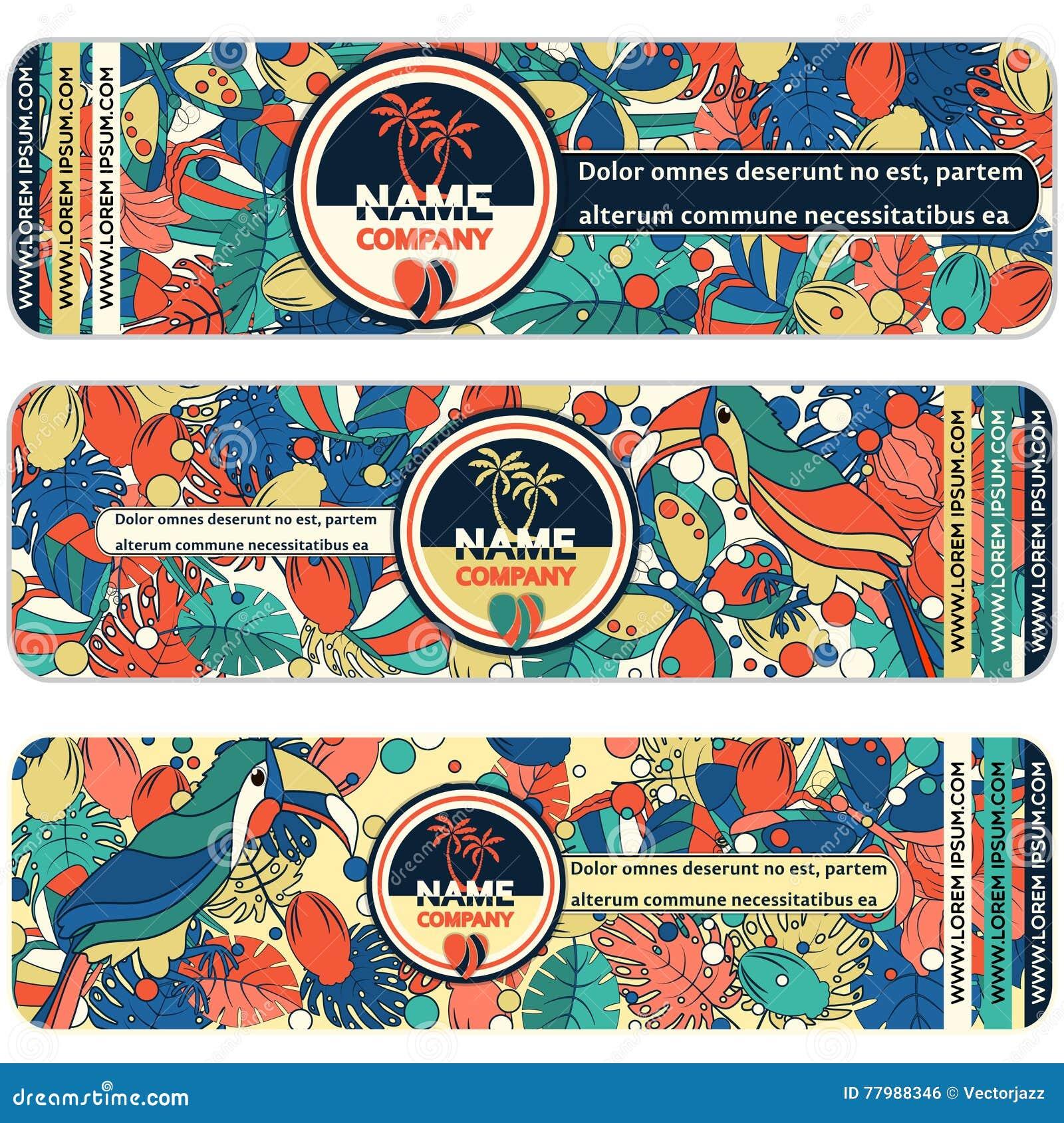Bannieres De Collection Tourist Company Placez Concept Fond Dans Les Lignes Minces Plates Style Densemble Avec Lillustration Conception Label