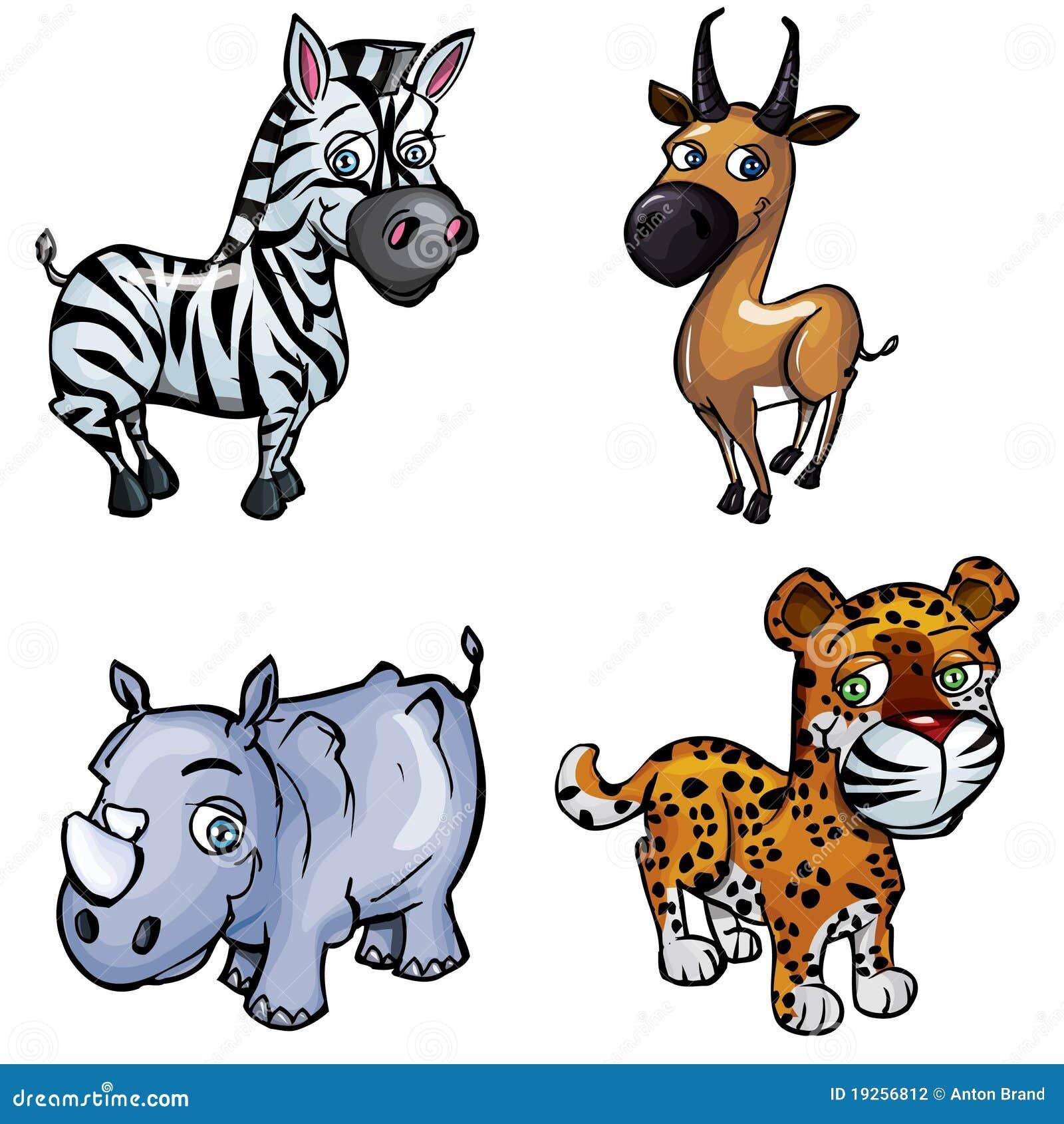 Ensemble d 39 animaux sauvages de dessin anim photographie - Dessins d animaux sauvages ...