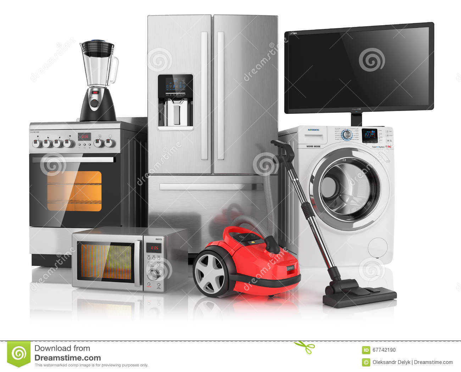 Ensemble d appareils de cuisine de ménage