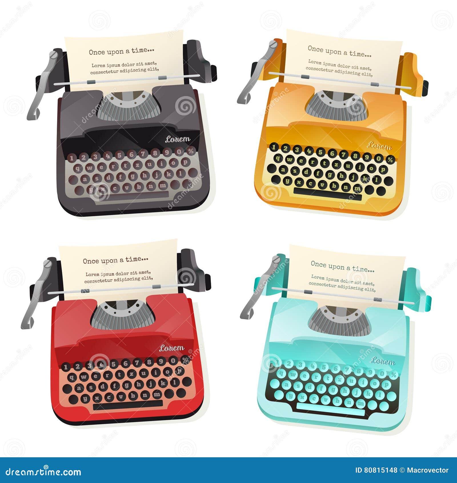 Ensemble d appartement de machine à écrire