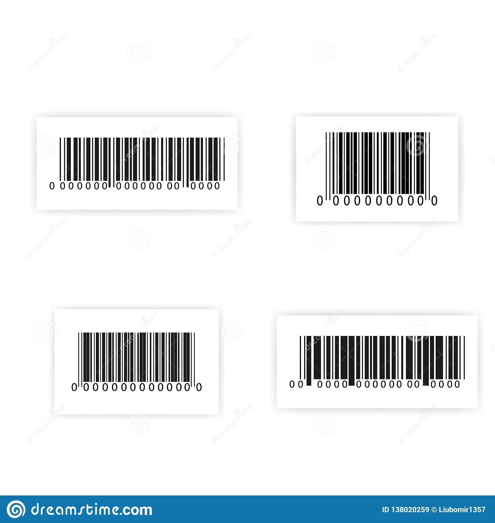 Ensemble d autocollant de code barres