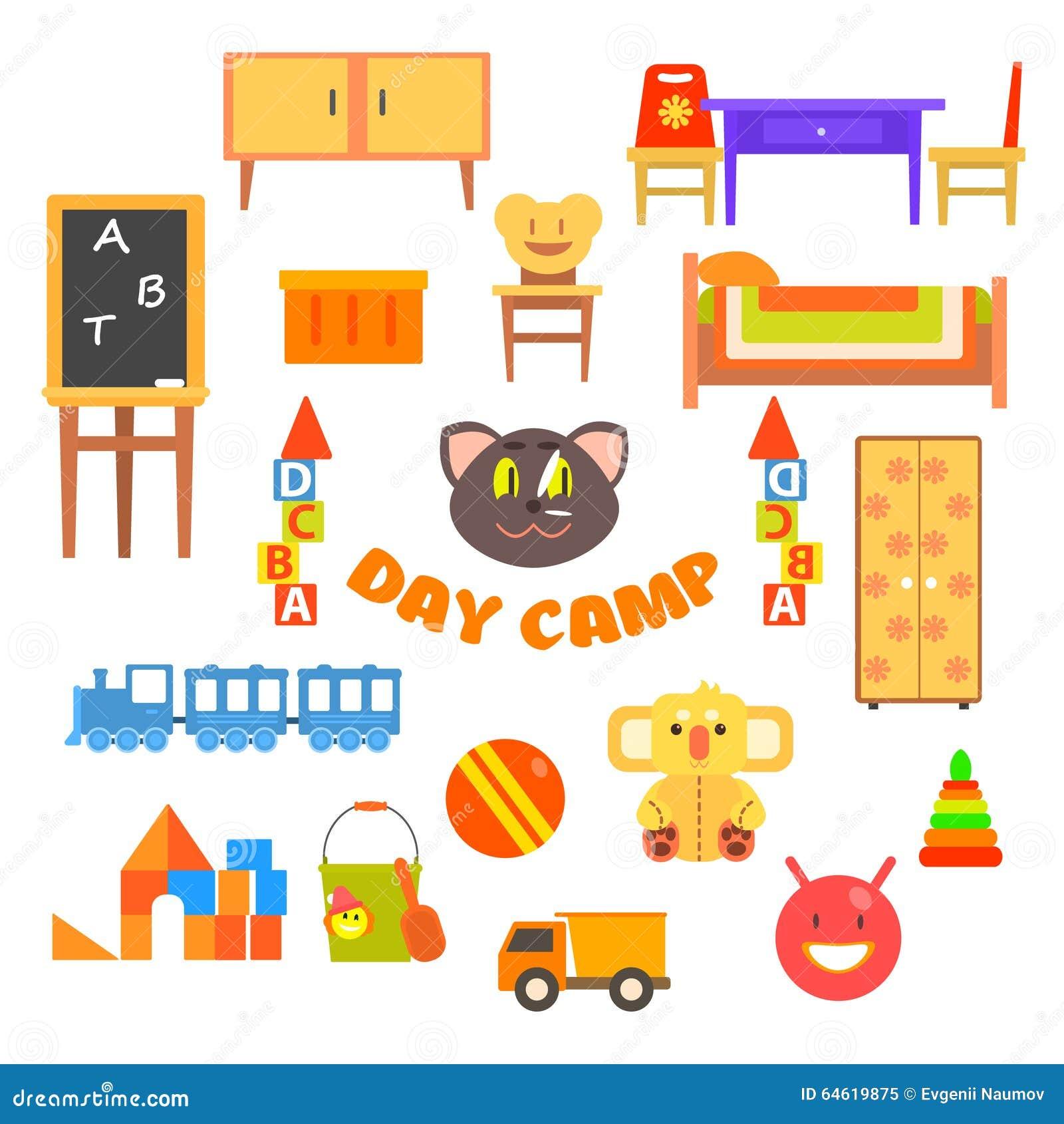 Ensemble d 39 cole maternelle de jardin d 39 enfants - Jardin d enfant ensemble ...