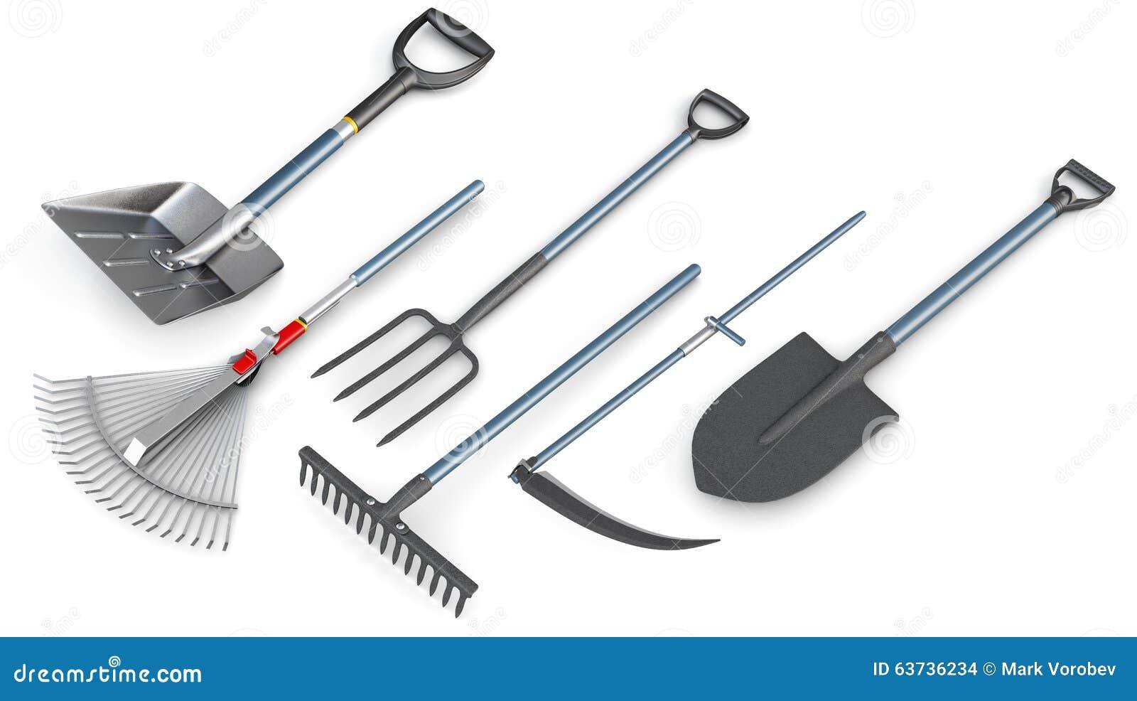 Ensemble 3d D\'outils De Jardin Illustration Stock - Illustration du ...