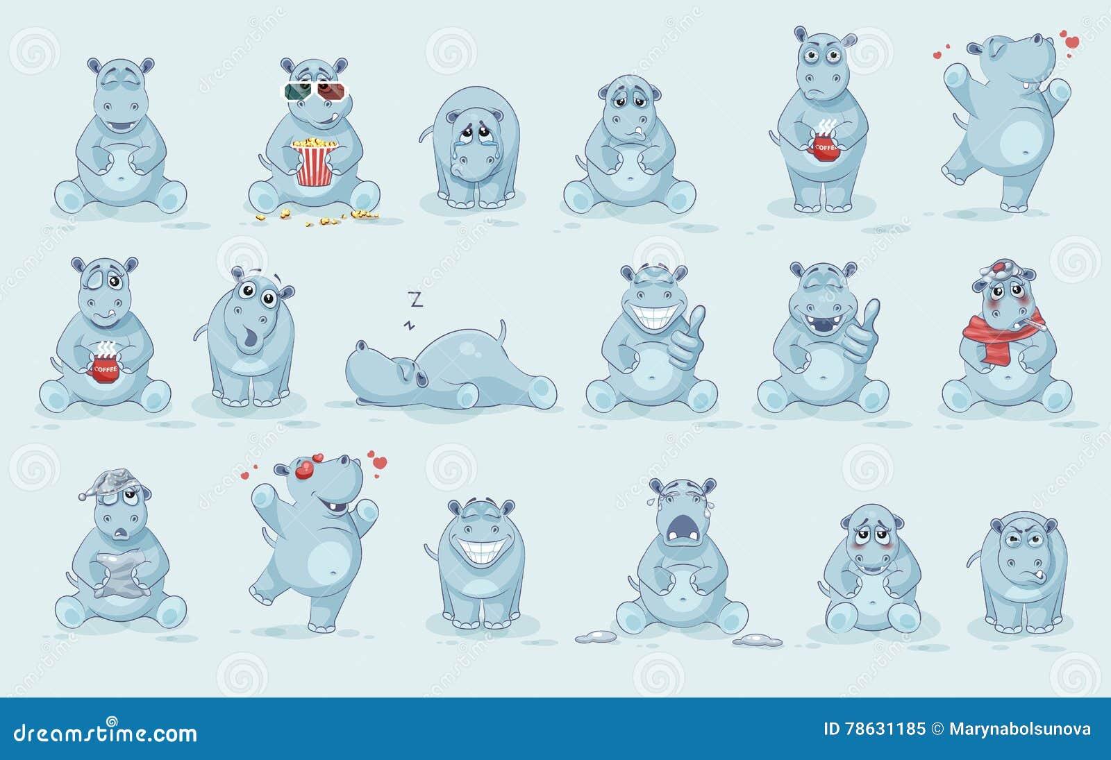 Ensemble d hippopotame