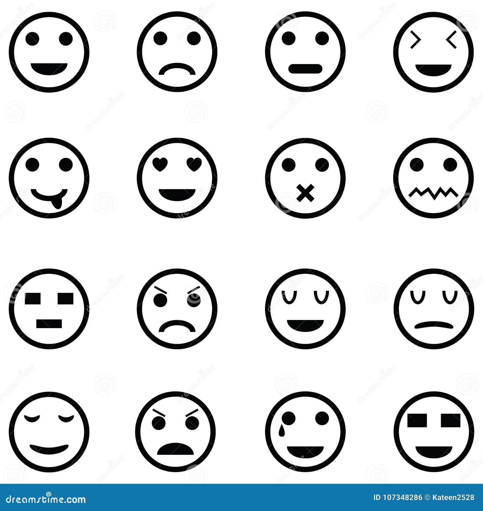 Ensemble d icône d émotion