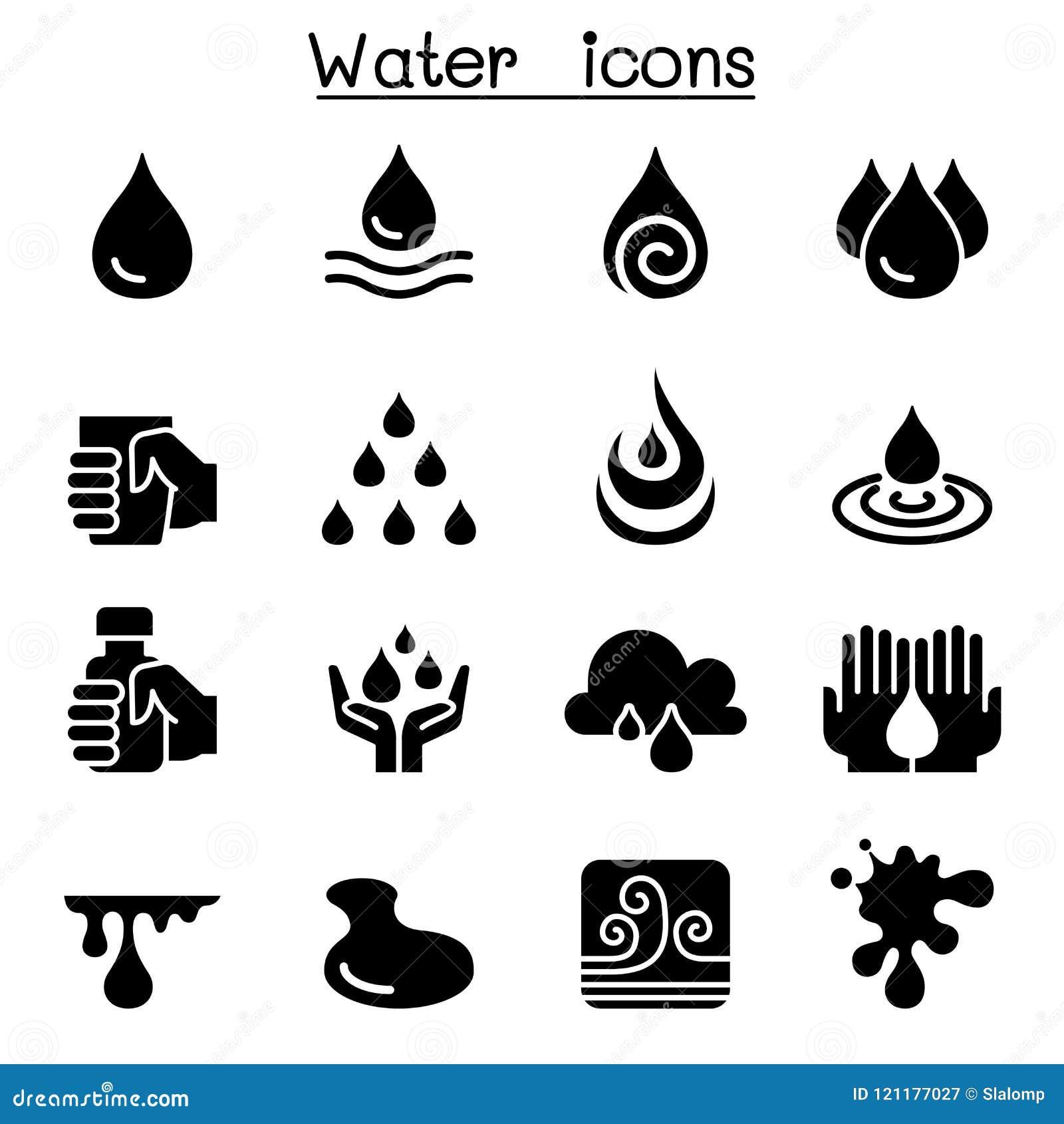 Ensemble d icône de l eau