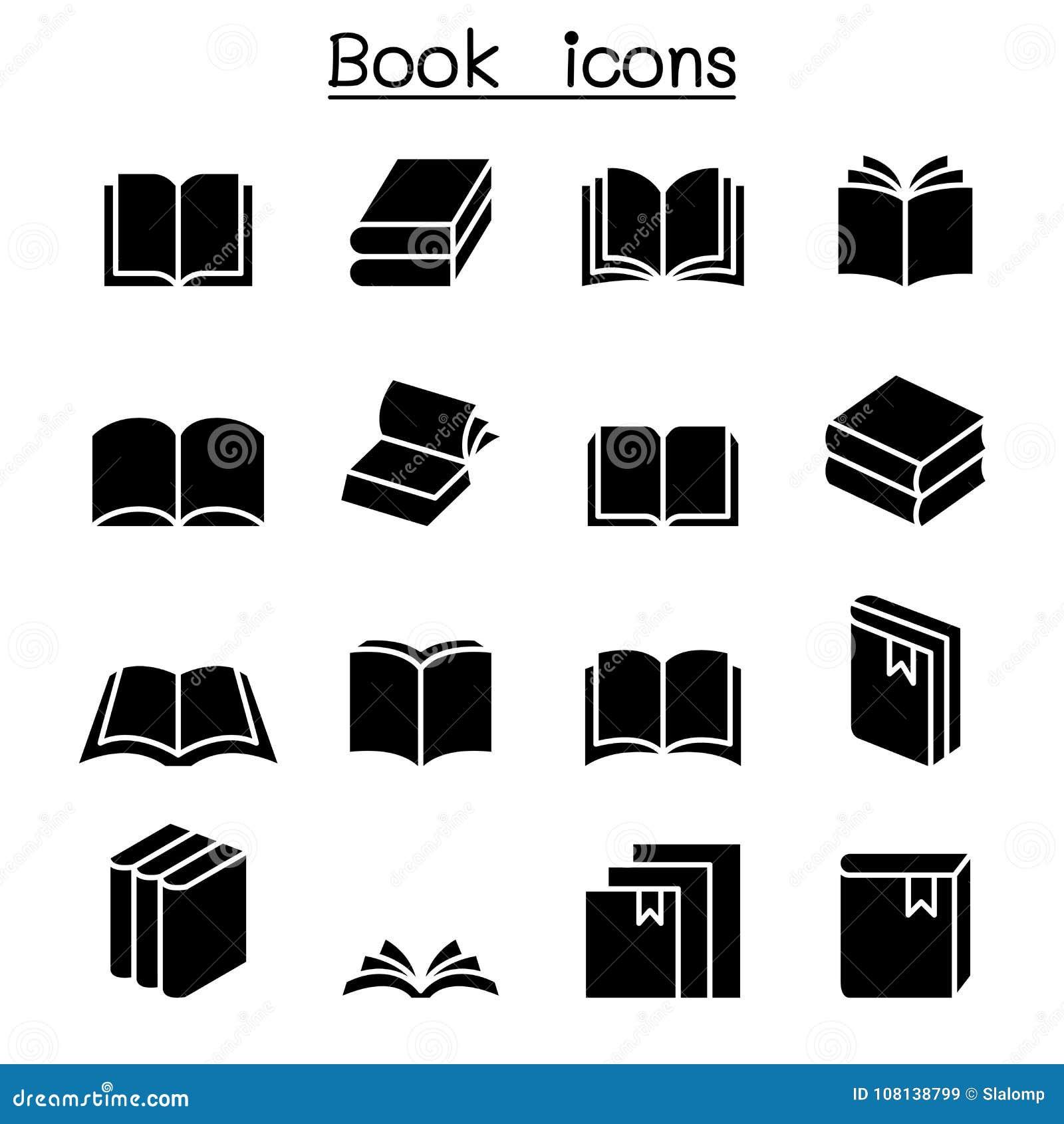 Ensemble d icône de livre