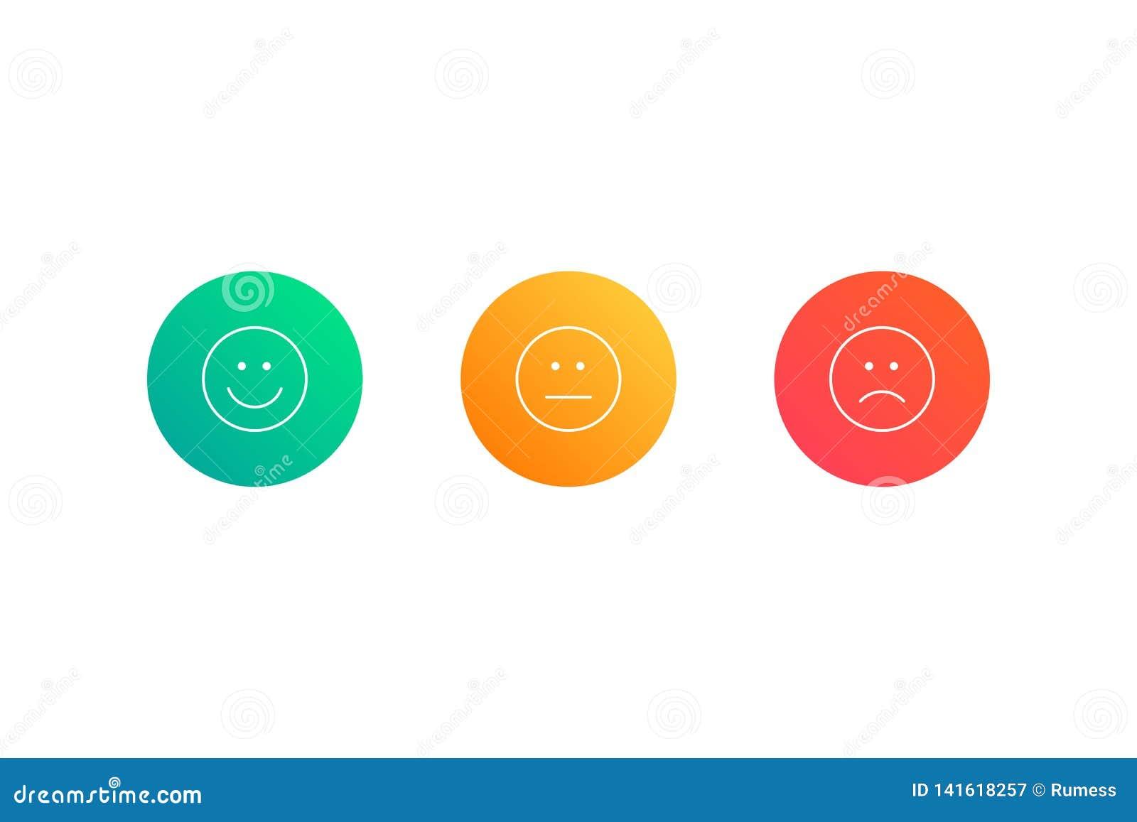 Ensemble d icônes d émoticône Illustration de vecteur