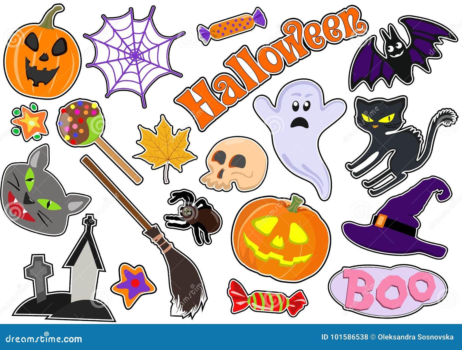 Ensemble D Icônes Avec Des Chiffres Pour Halloween