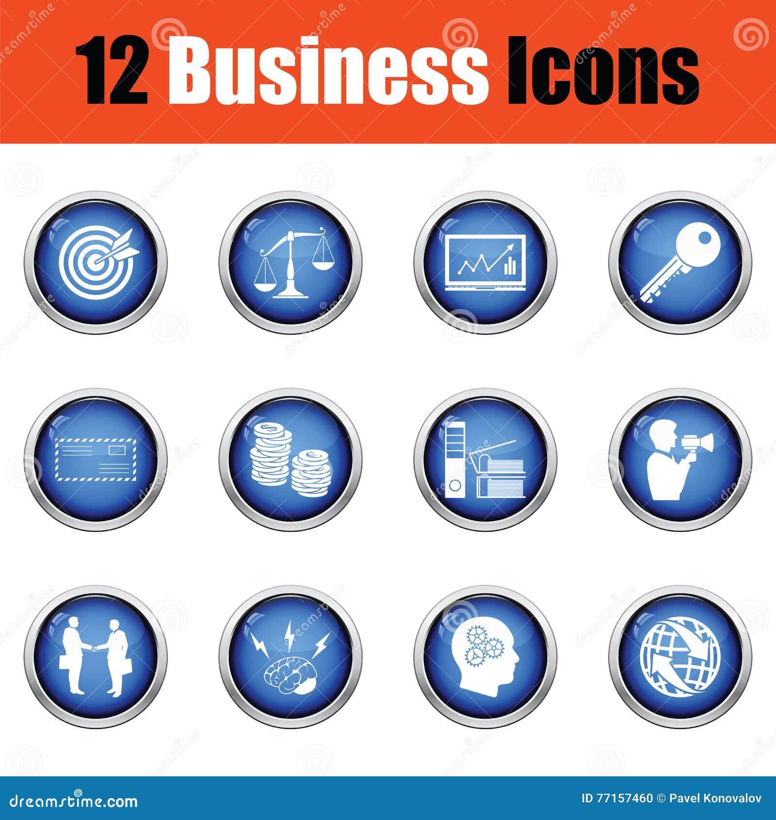 Ensemble d icône d affaires