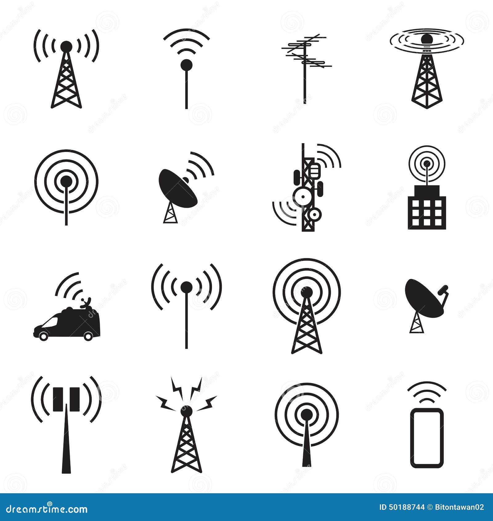 Ensemble d icône d antenne