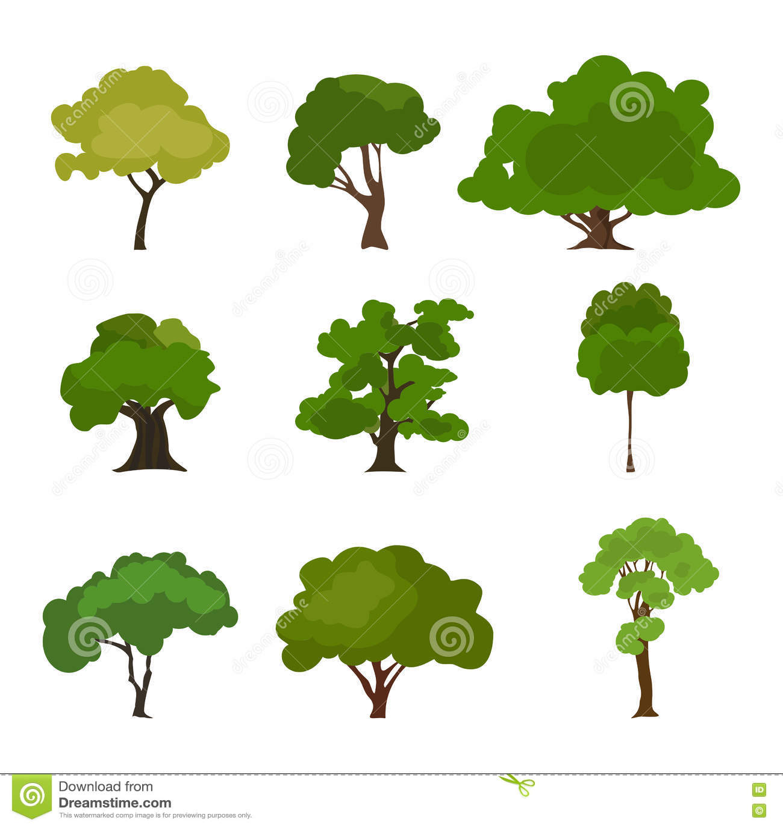 Top Ensemble D'icône D'arbre Forêt De Silhouette De Rree, Vecteur D  CS37
