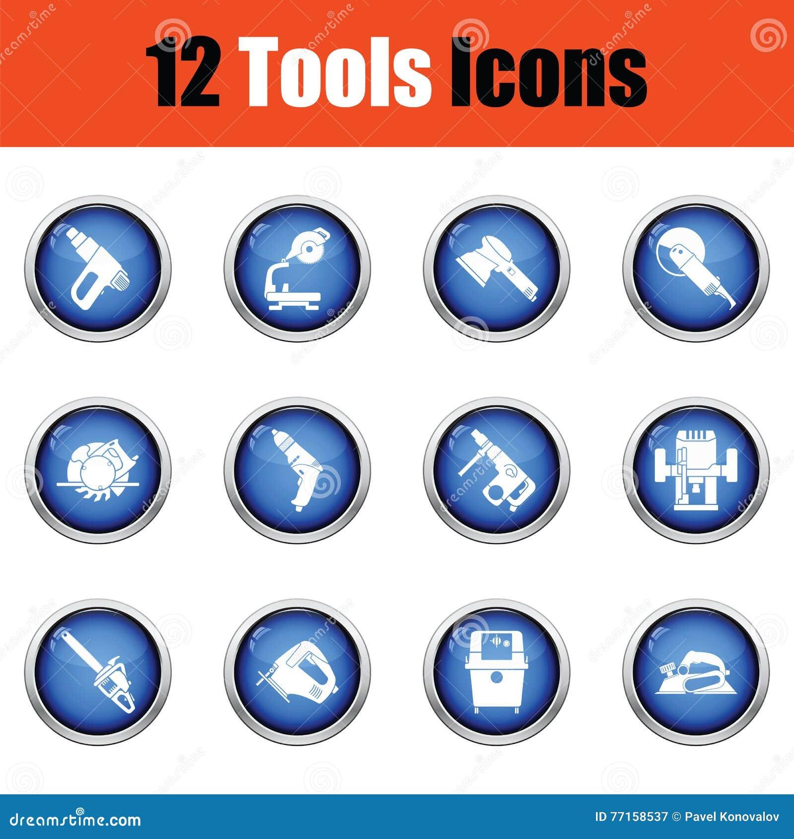 Ensemble d icône d outils