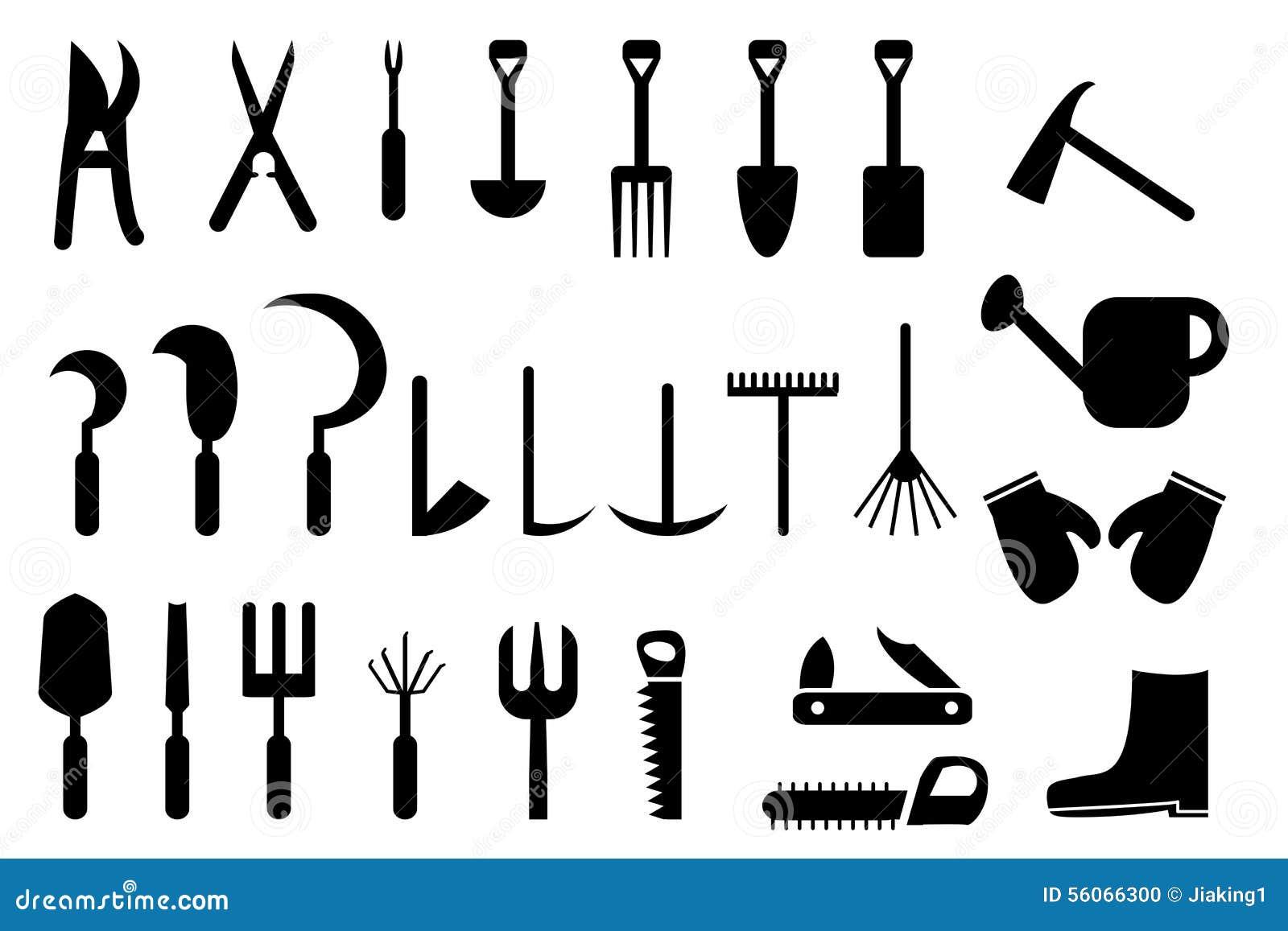 Ensemble D\'icône D\'outils De Bricolage De Jardin ...