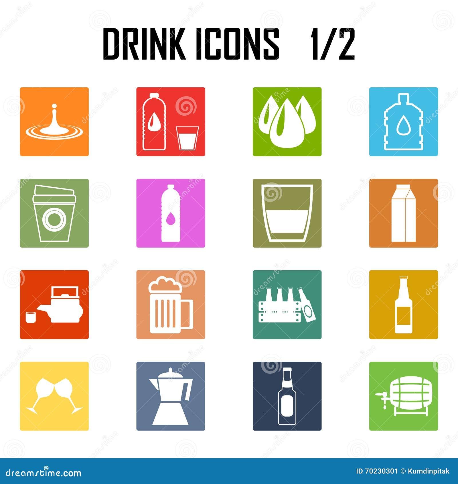 Ensemble d icône de boissons