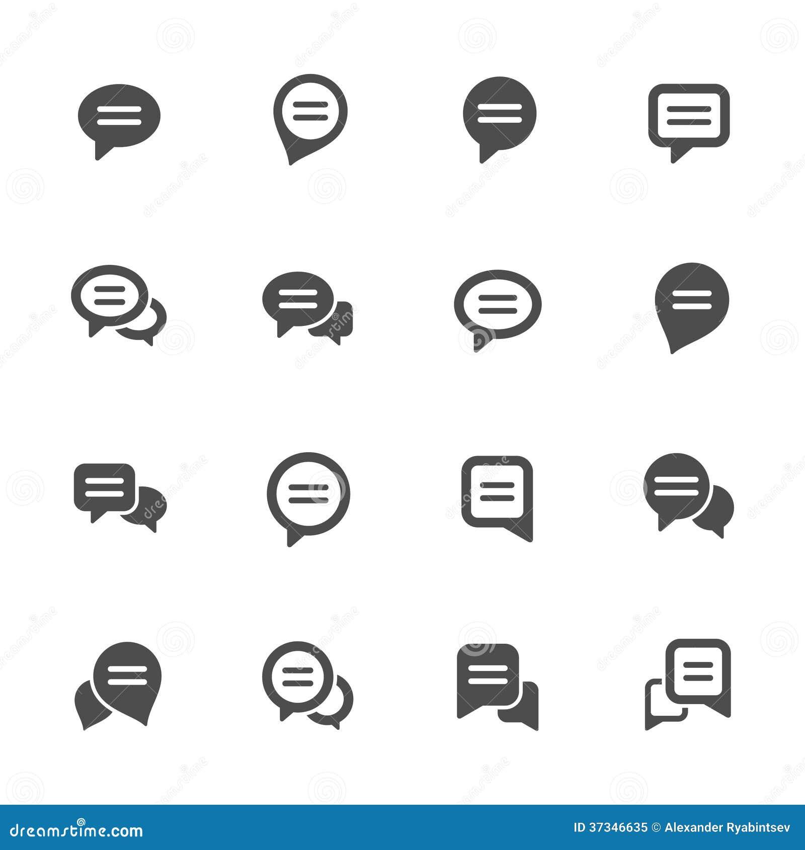 Ensemble d icône de bulle de la parole