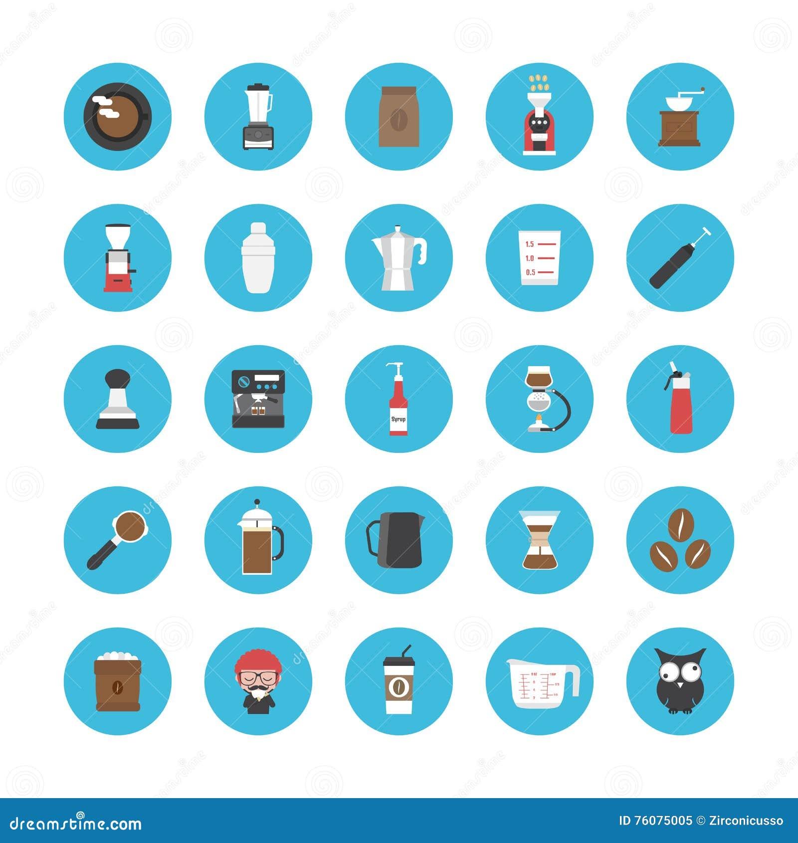 Ensemble d icône de café