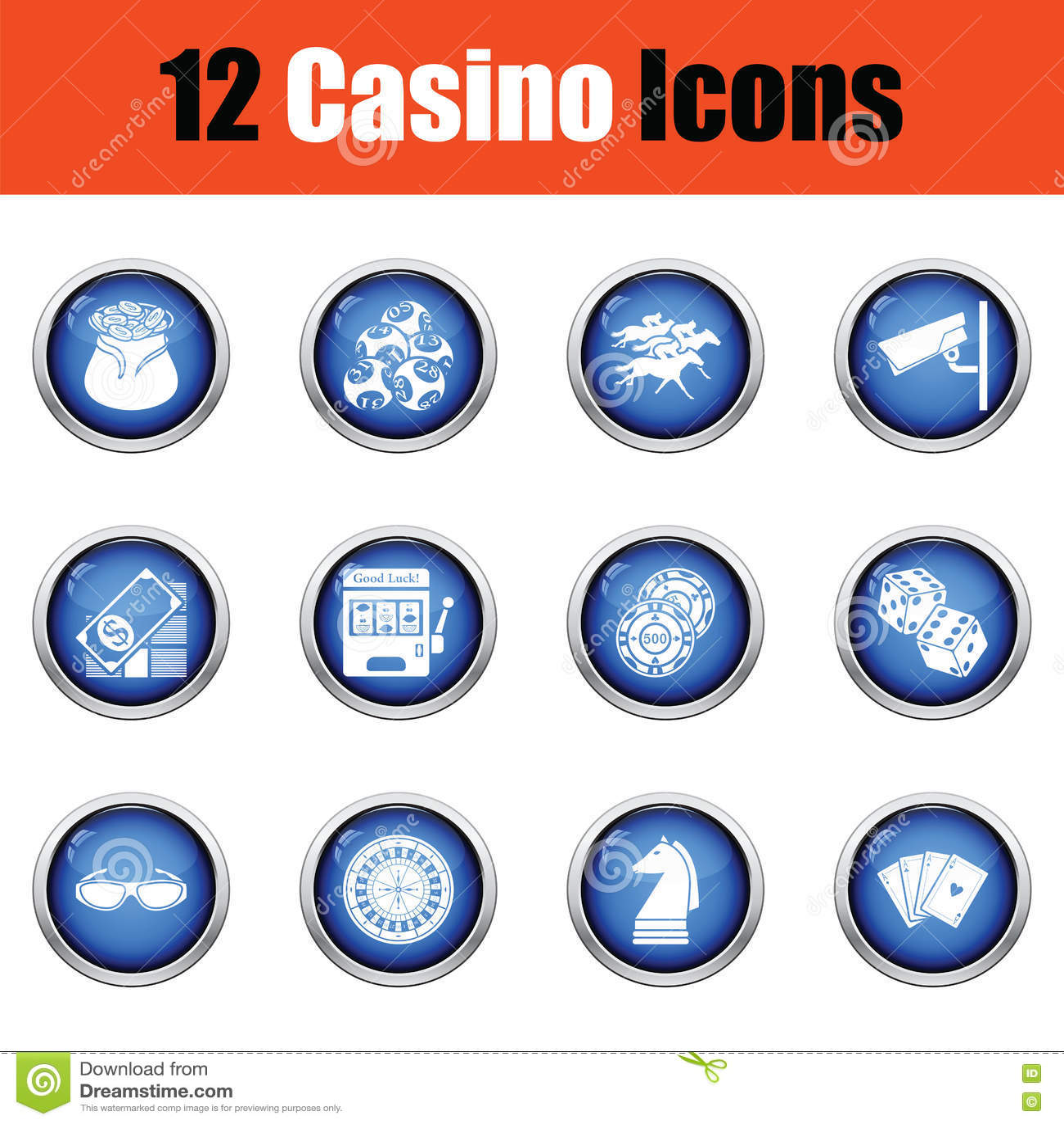 Ensemble d icône de casino