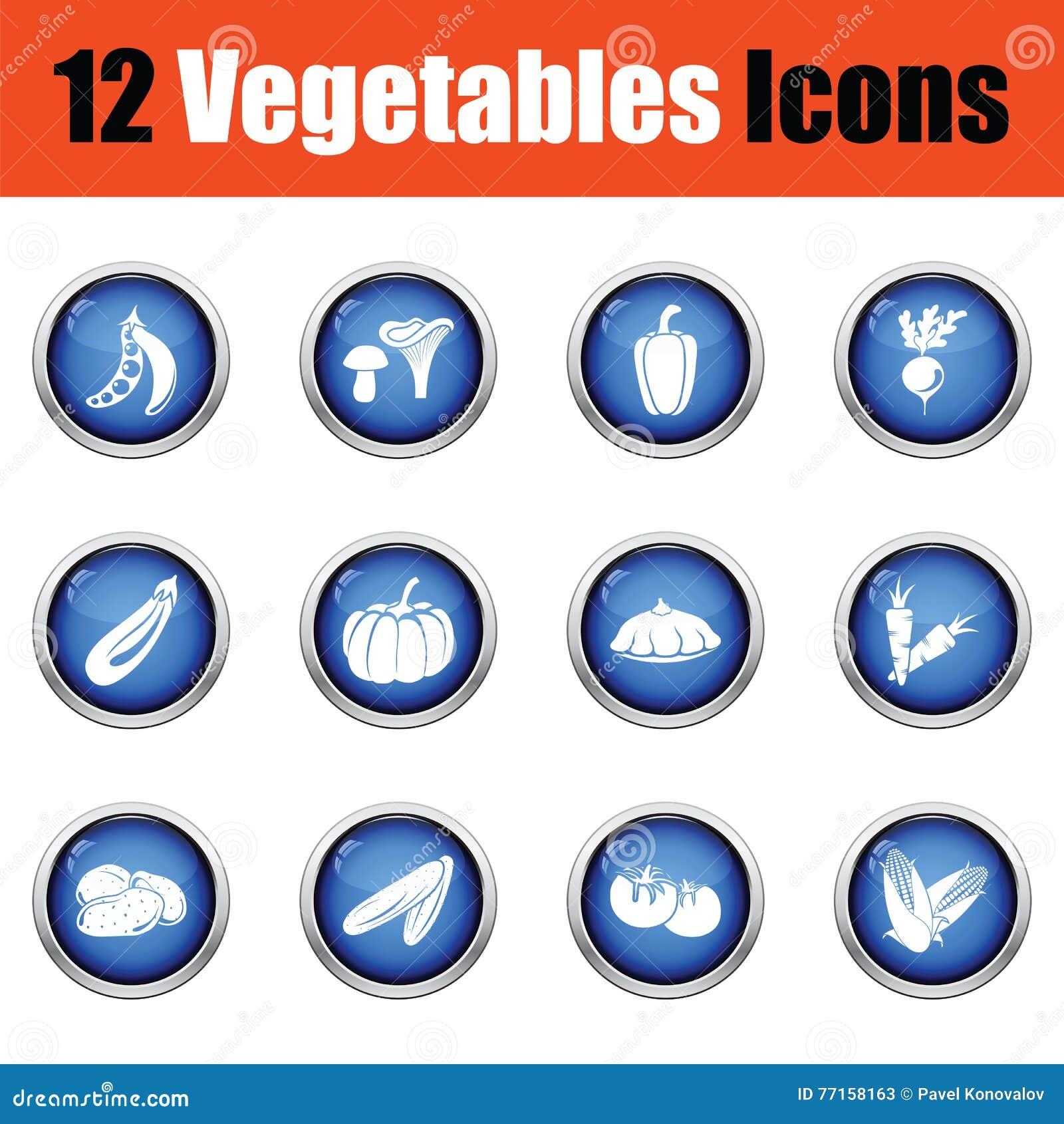 Ensemble d icône de légumes