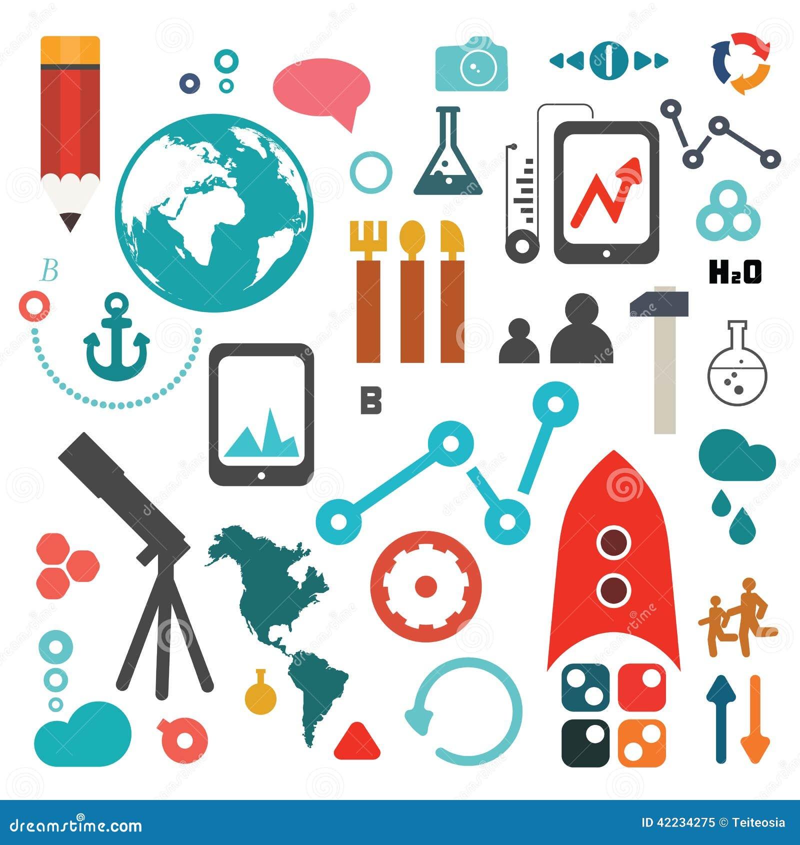 Ensemble d icône de la Science