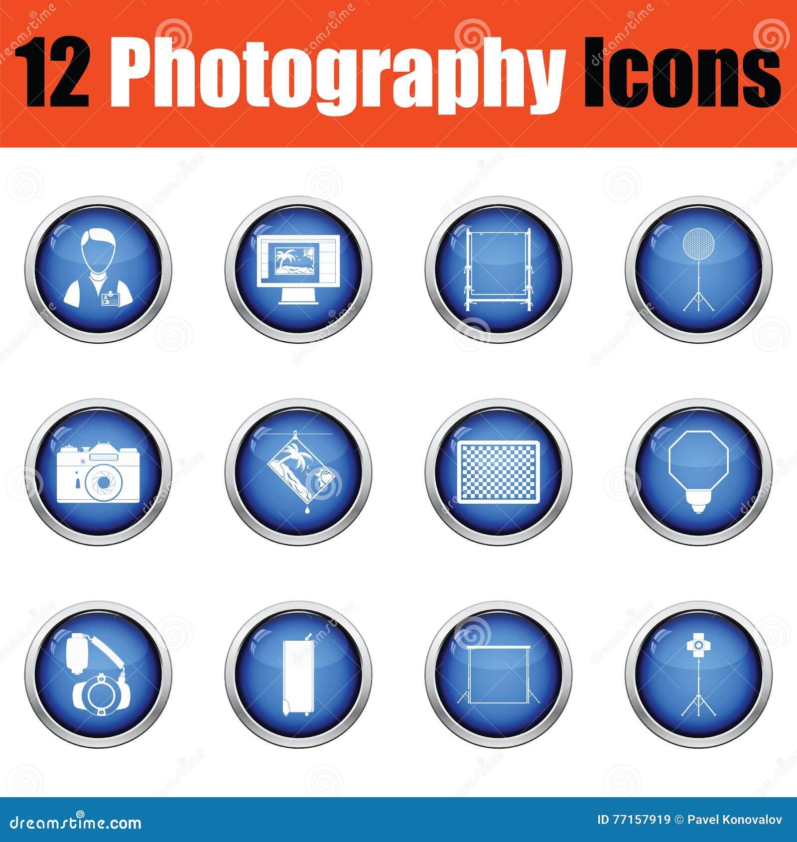 Ensemble d icône de photographie