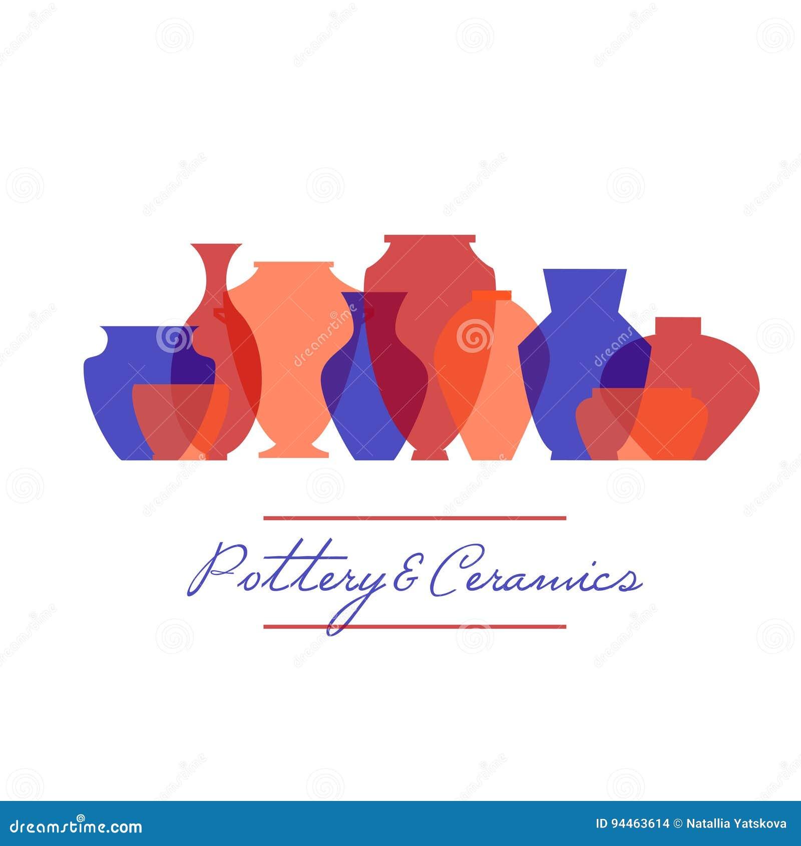 Ensemble d icône de poterie