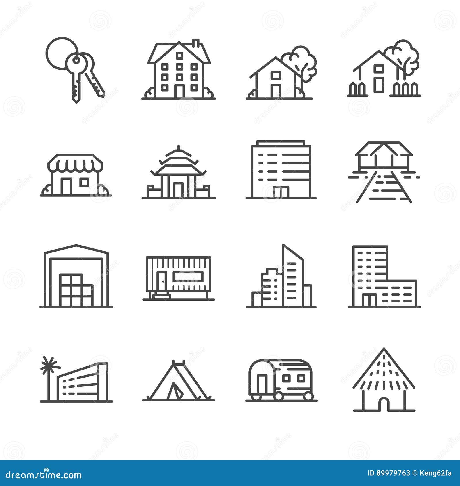 Ensemble d icône de propriété