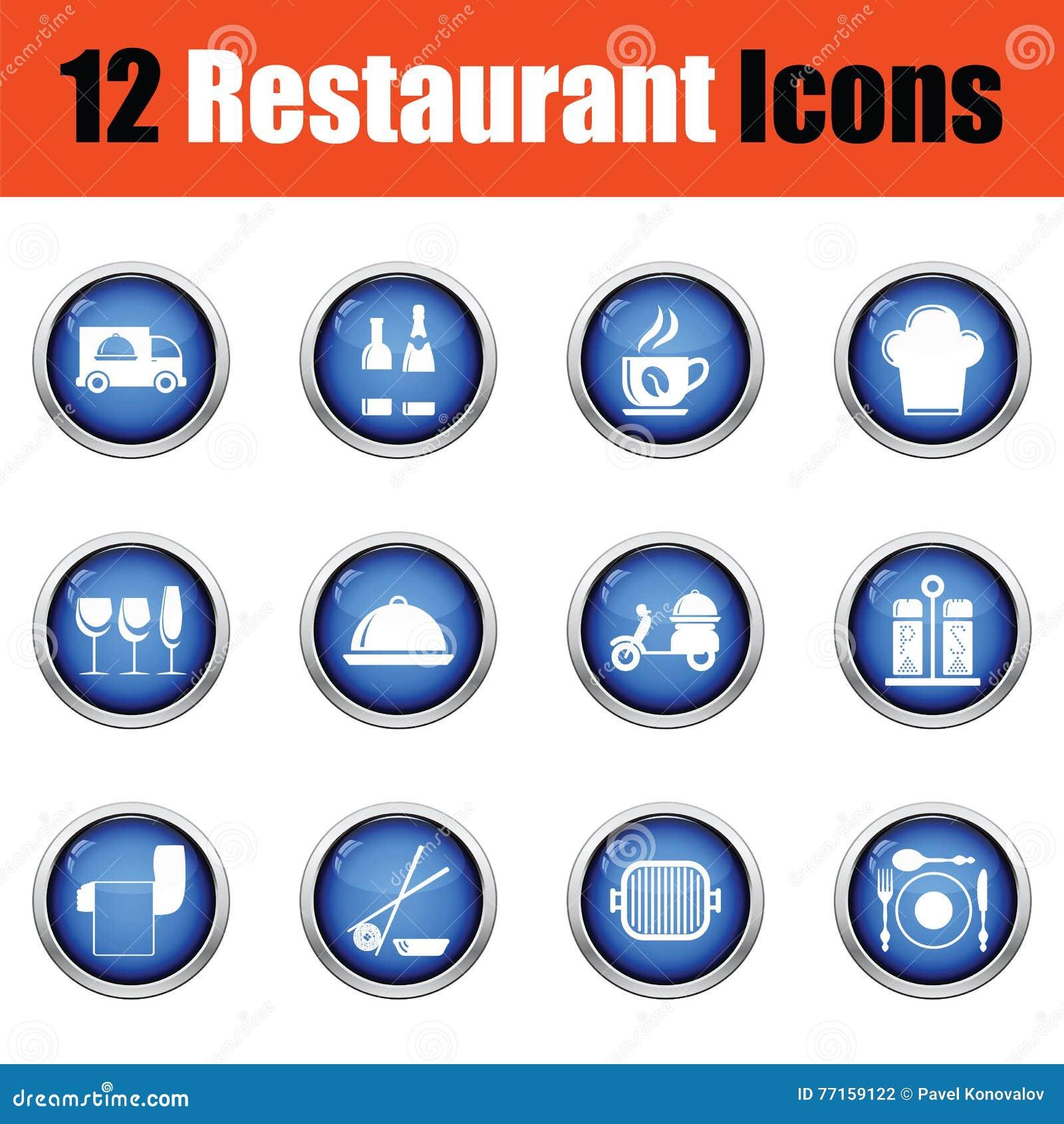 Ensemble d icône de restaurant
