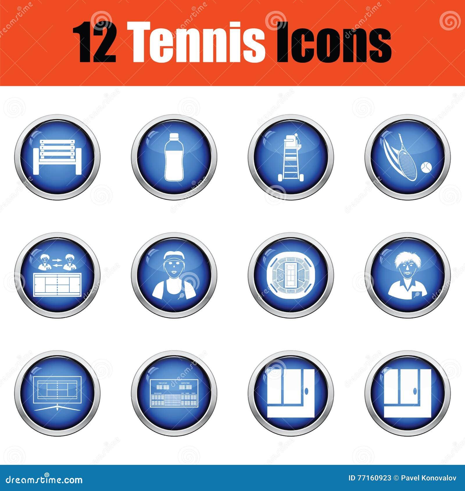 Ensemble d icône de tennis