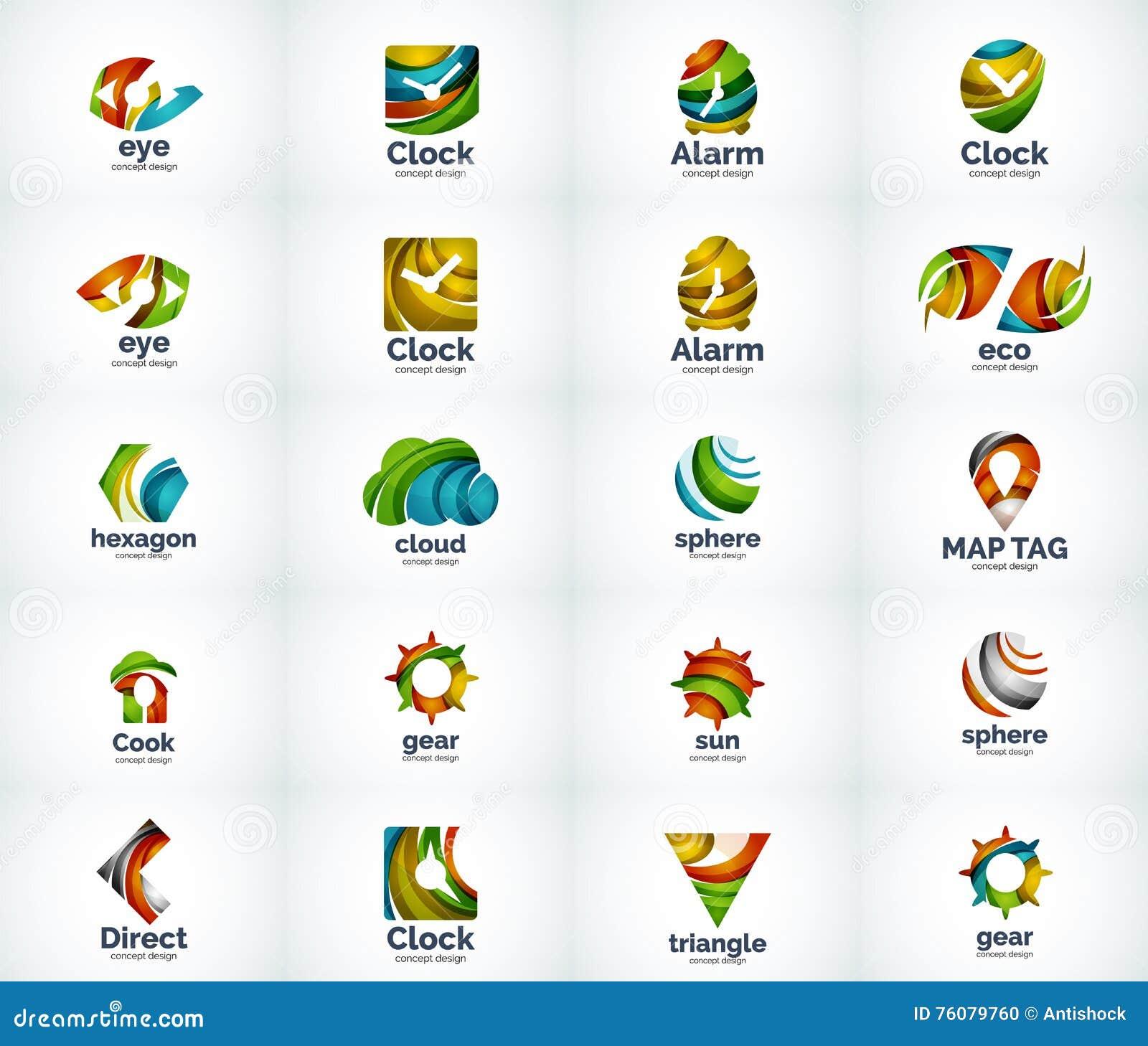 Ensemble d icônes abstraites de logo de vecteur
