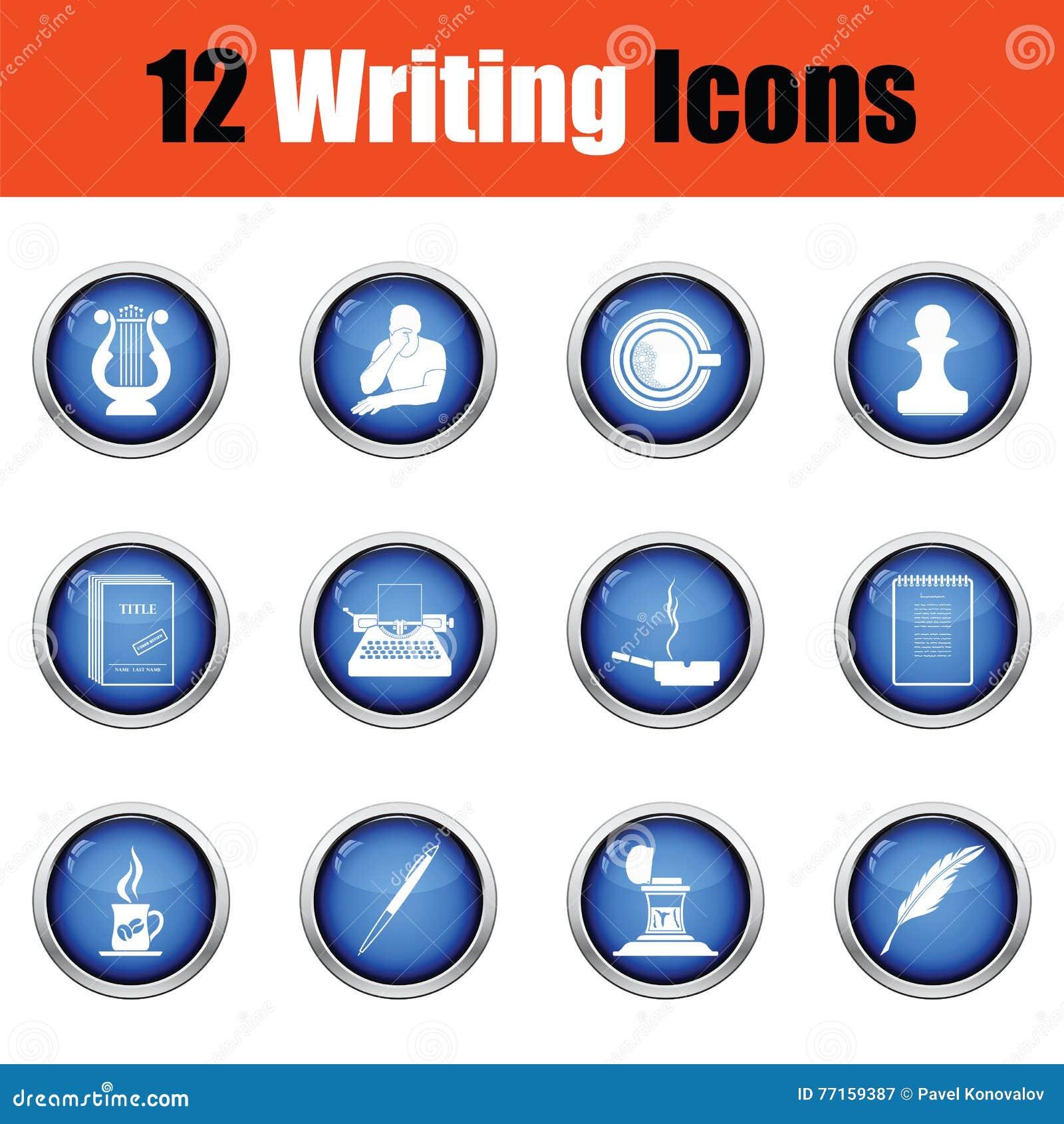 Ensemble d icônes d auteur
