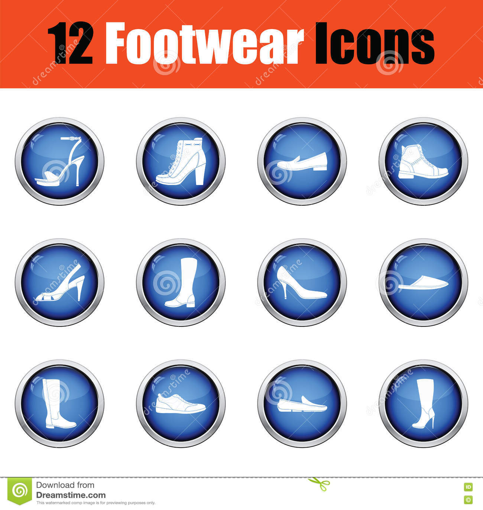 Ensemble d icônes de chaussures