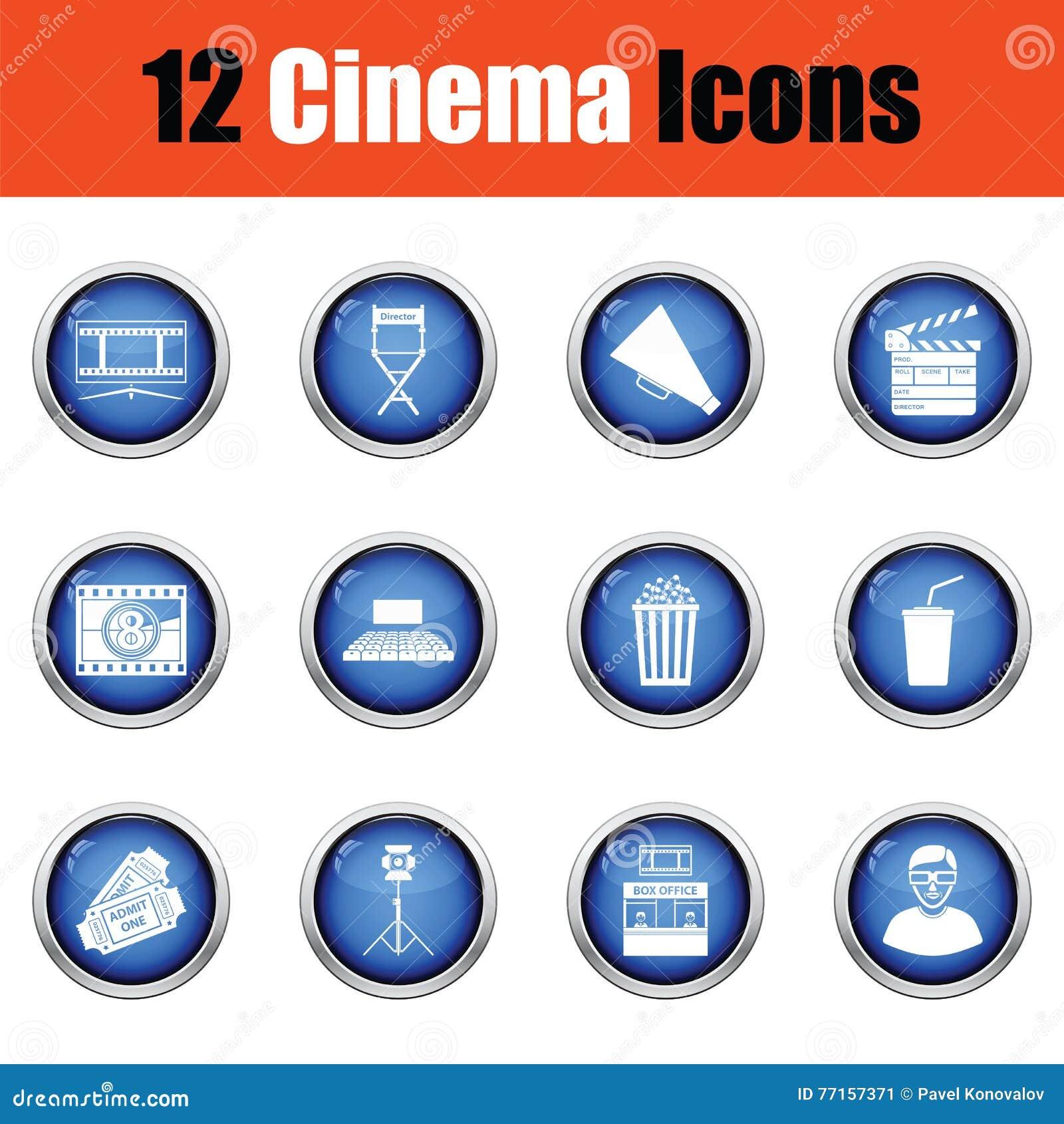 Ensemble d icônes de cinéma