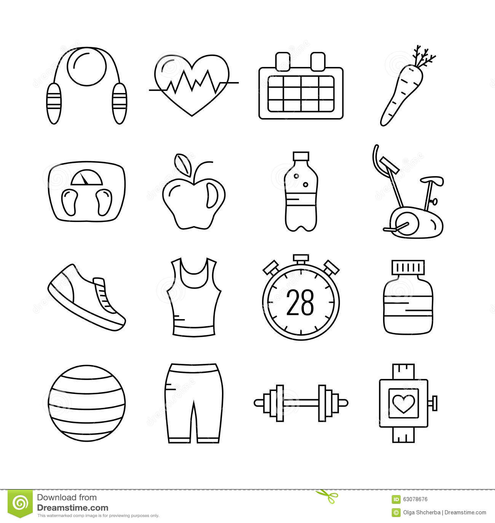Download Ensemble D'icônes De Forme Physique De Course D'ensemble Illustration de Vecteur - Illustration du sport, sports: 63078676