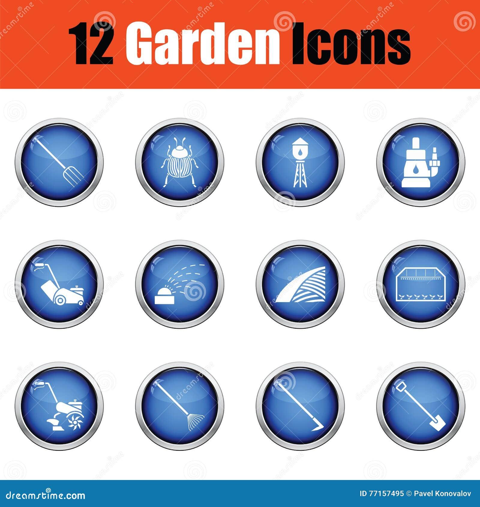 Ensemble d icônes de jardinage