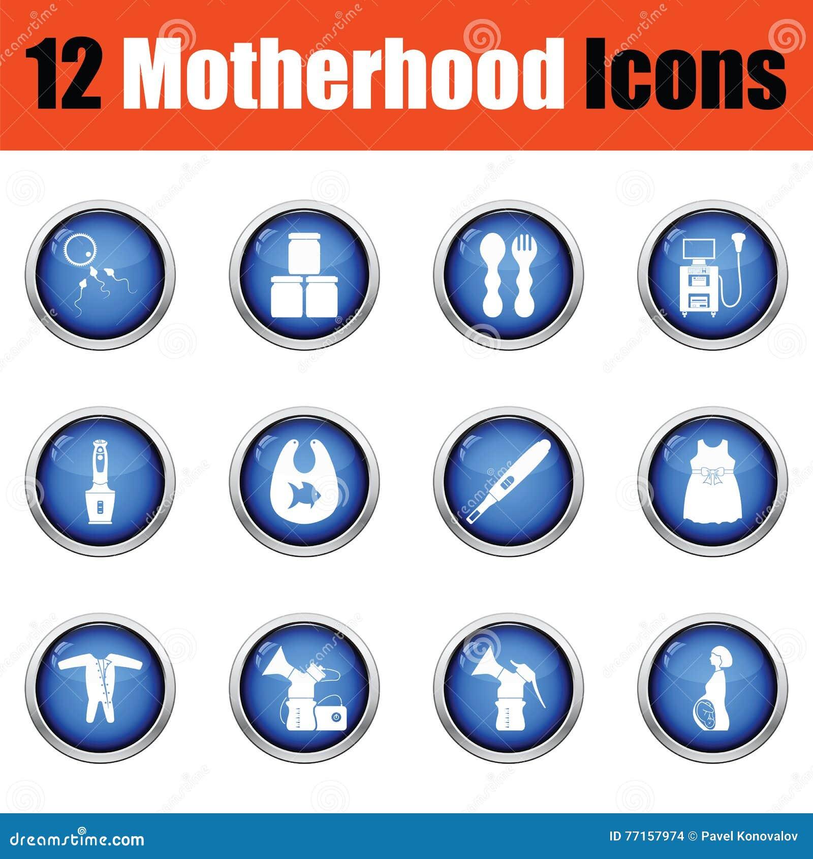 Ensemble d icônes de maternité