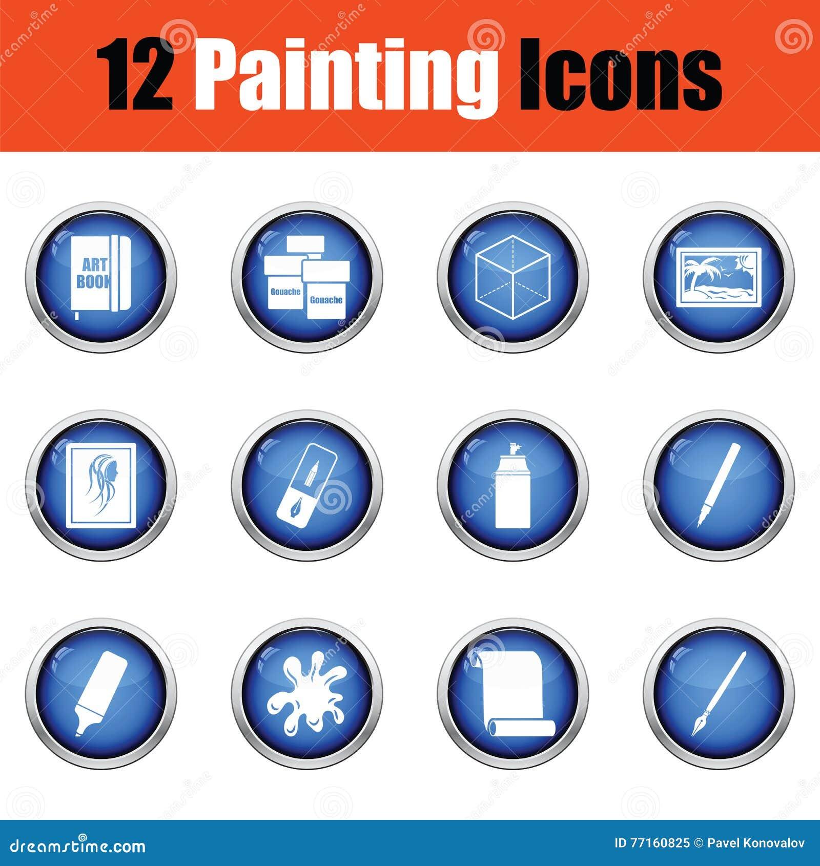 Ensemble d icônes de peinture