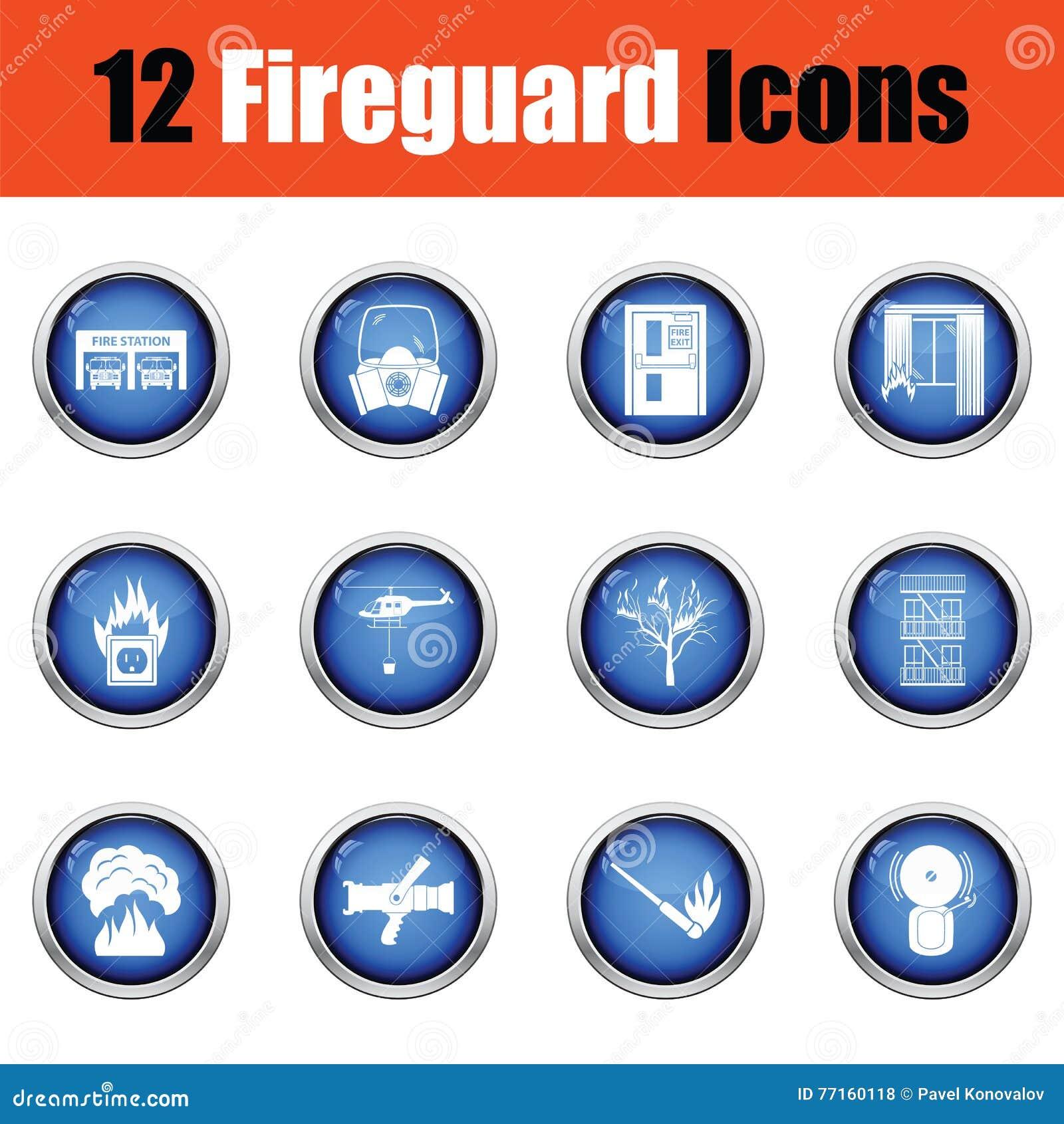 Ensemble d icônes de pompiers