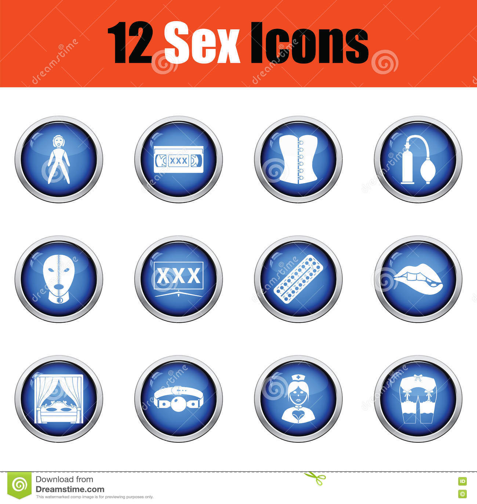 Ensemble d icônes de sexe