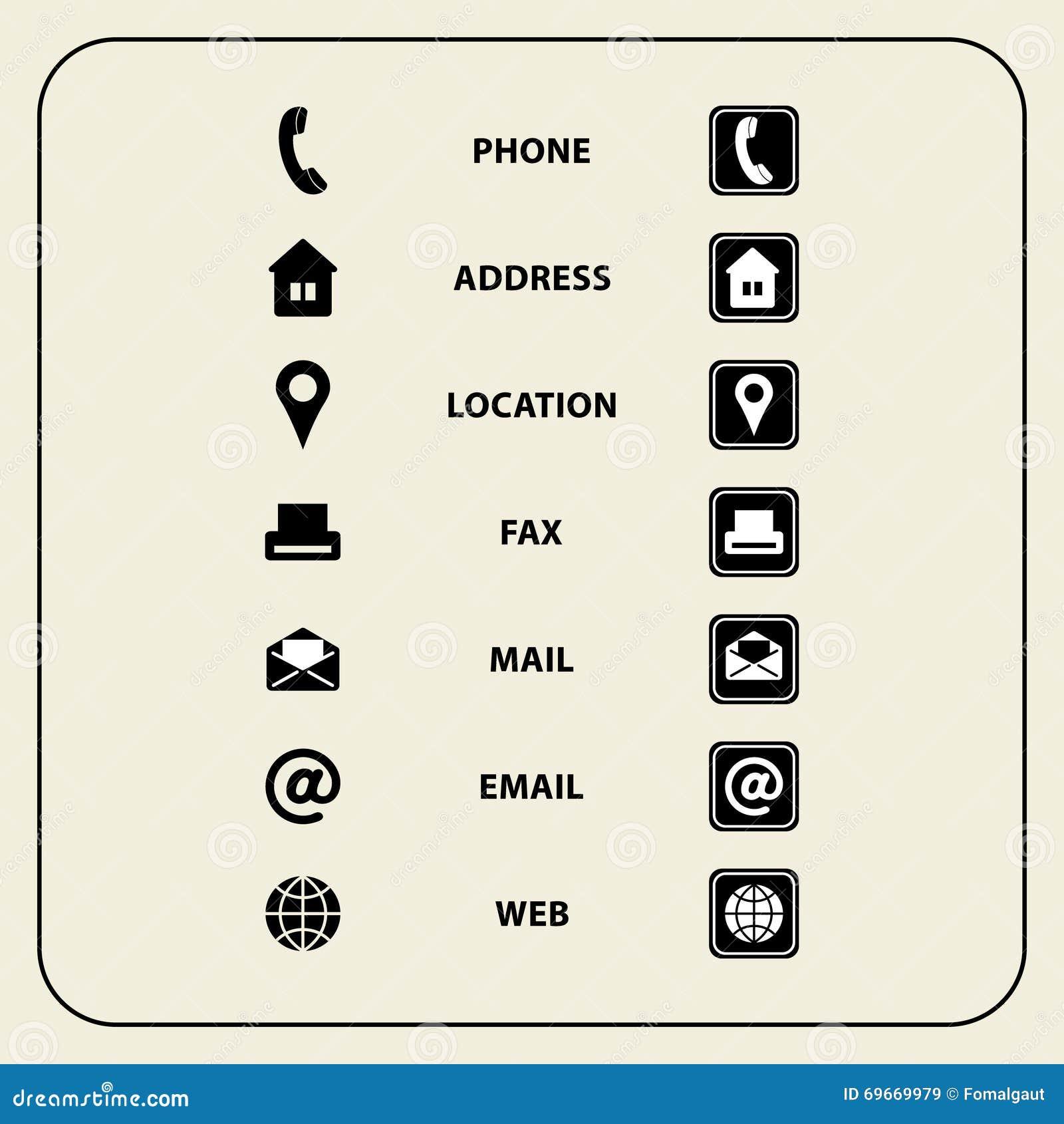 Dirigez Lillustration De Lensemble Dicones Web Pour Des Cartes Visite Professionnelle Finances Et La Communication Symboles