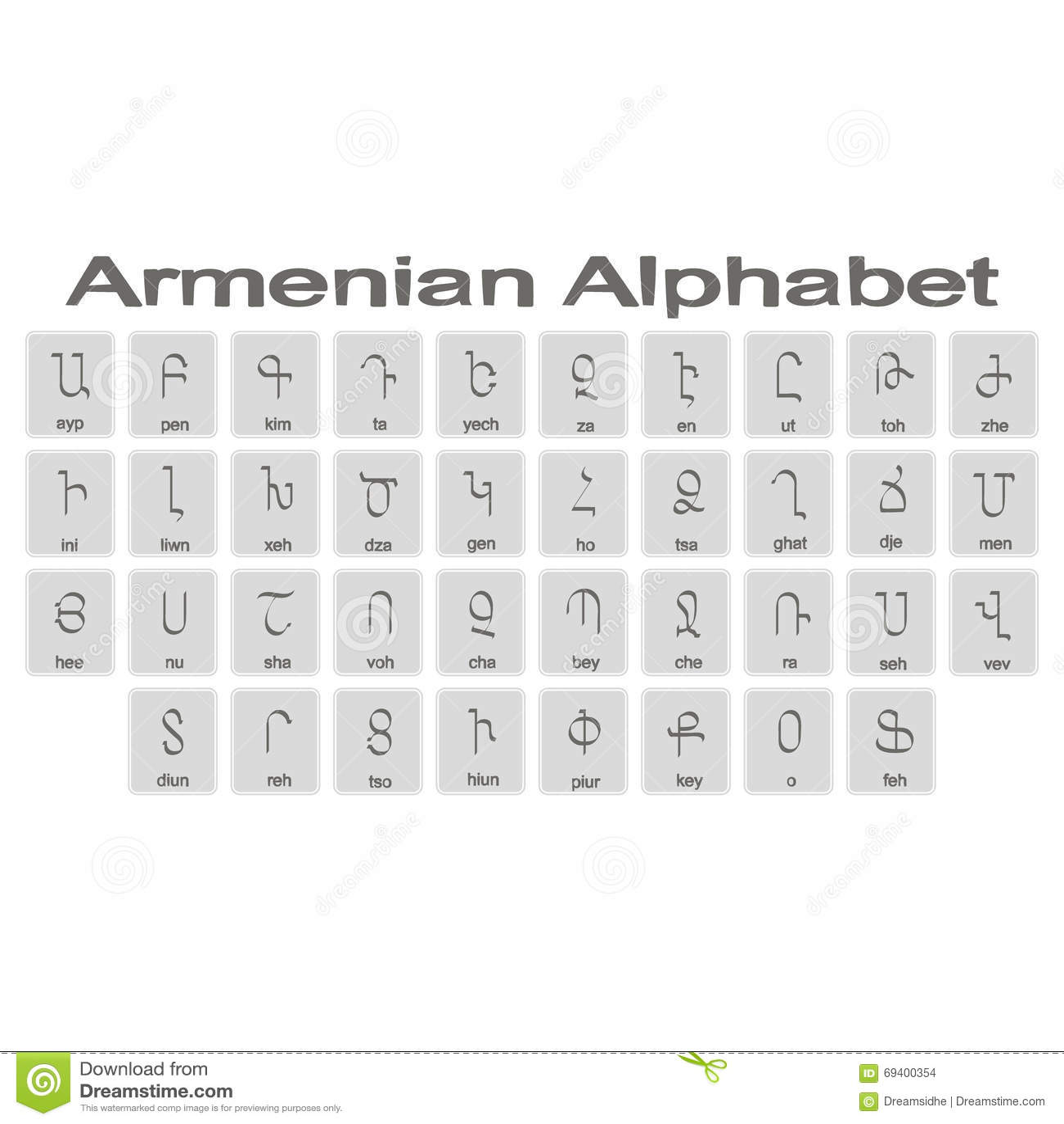ALPHABET ARMENIEN TÉLÉCHARGER