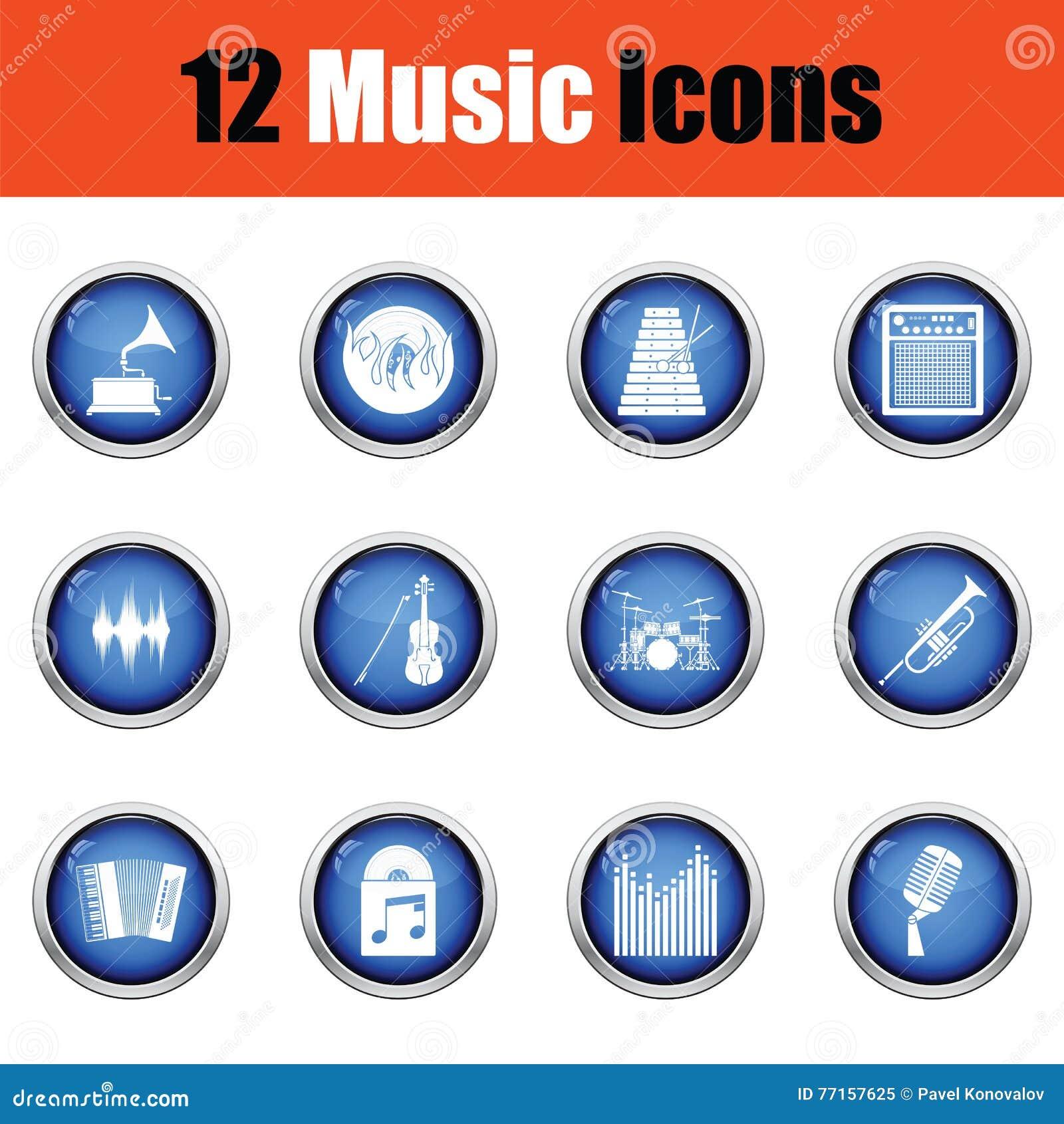 Ensemble d icônes musicales